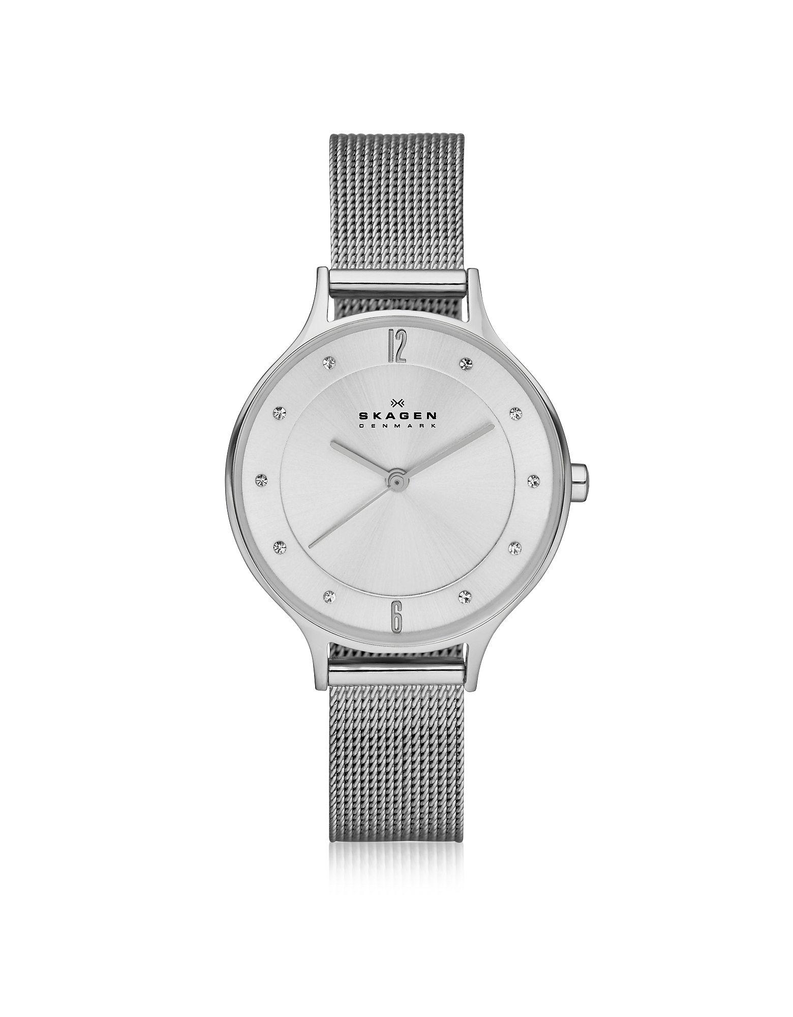 Skagen Women's Watches, Anita Silvertone Stainless Steel Women's Watch w/Mesh Bracelet Band