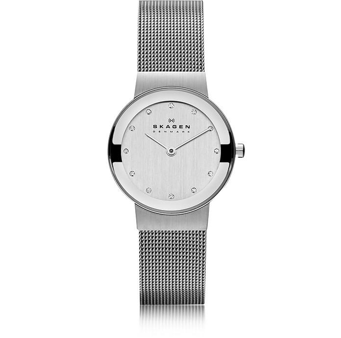 Freja Silvertone Stainless Steel Mesh Bracelet Women's Watch