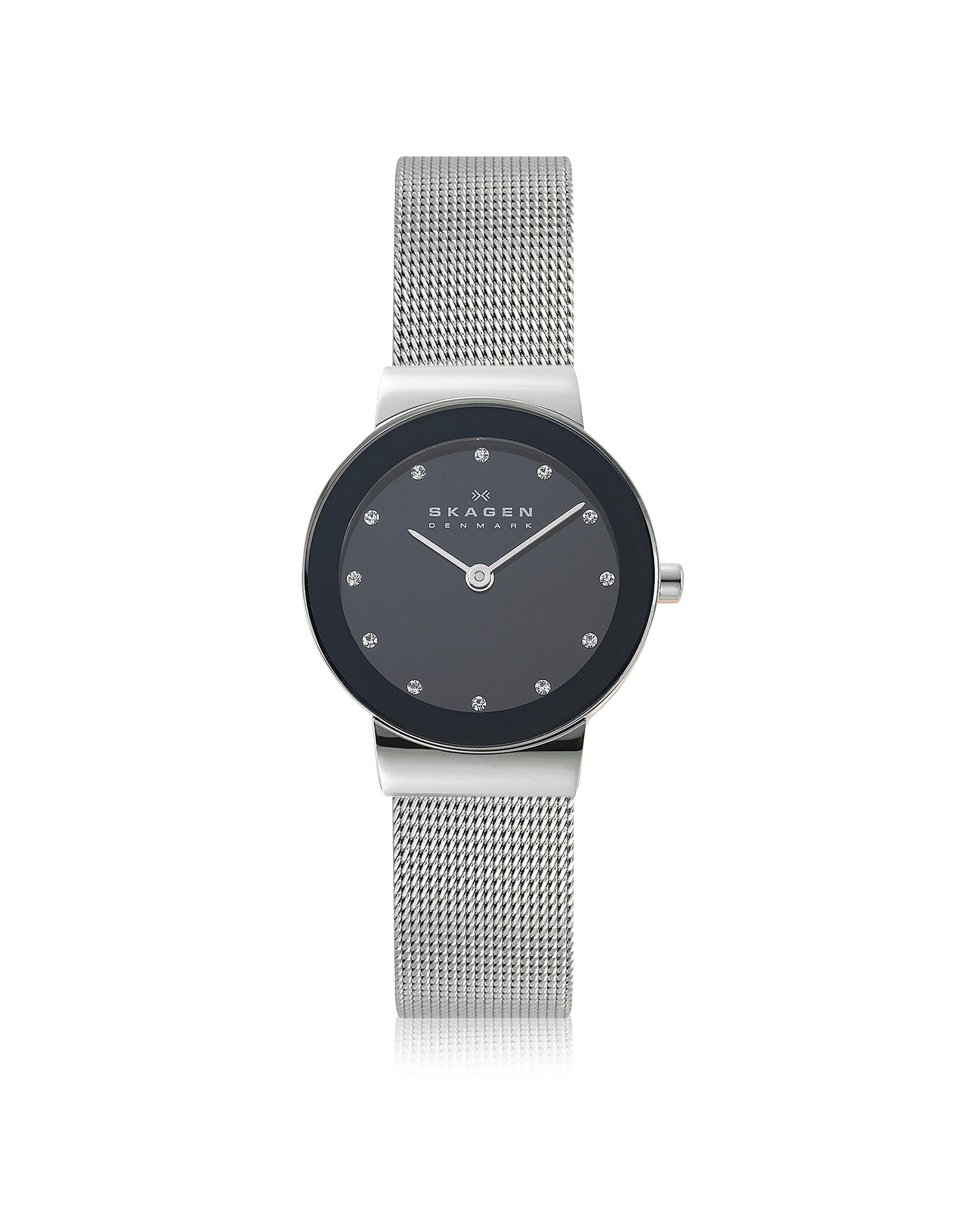 Freja Black Stainless Steel Mesh Bracelet Women's Watch