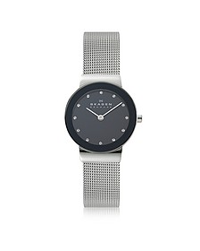 Freja Black Stainless Steel Mesh Bracelet Women's Watch - Skagen