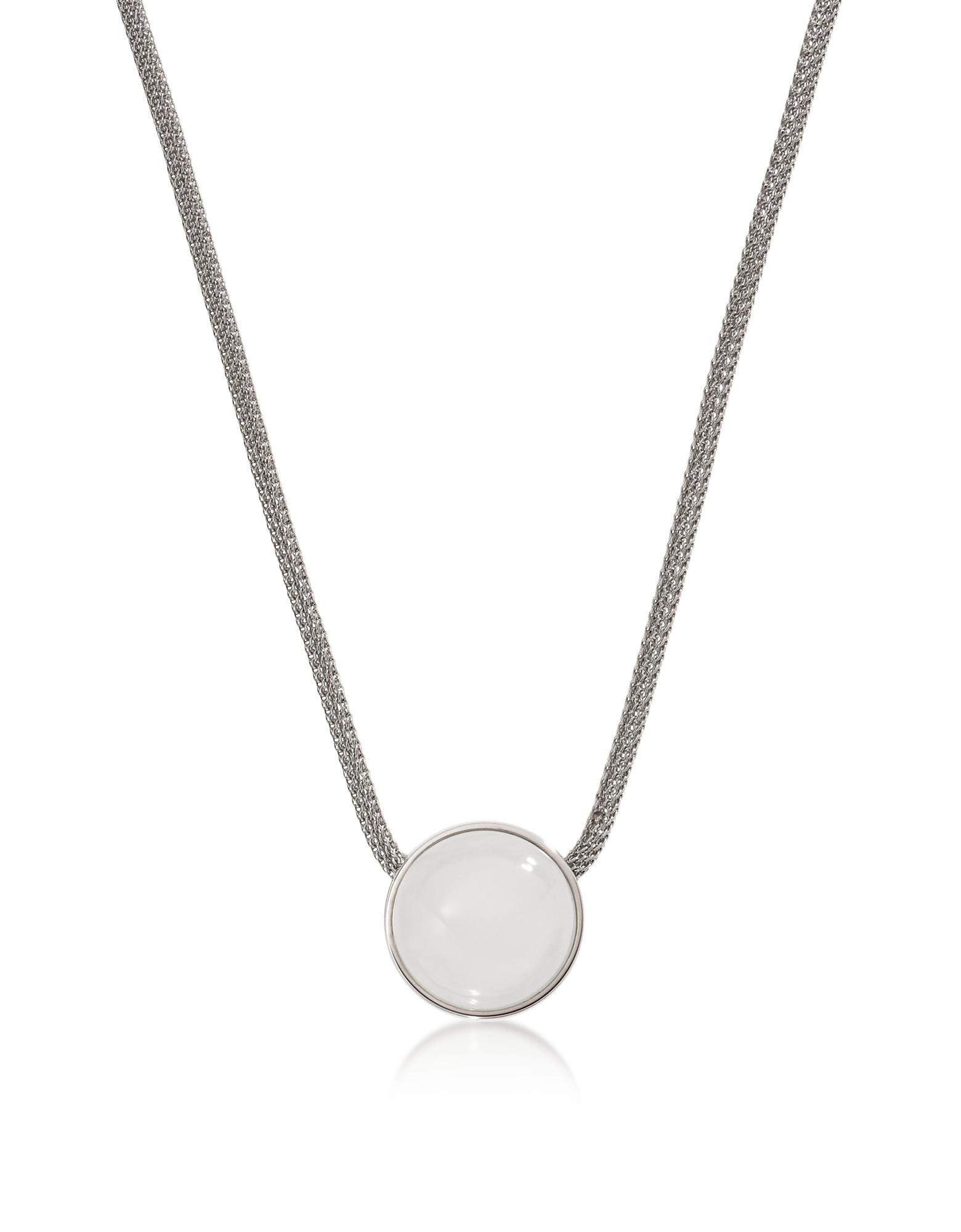 Sea Glass Silver Tone Women's Necklace