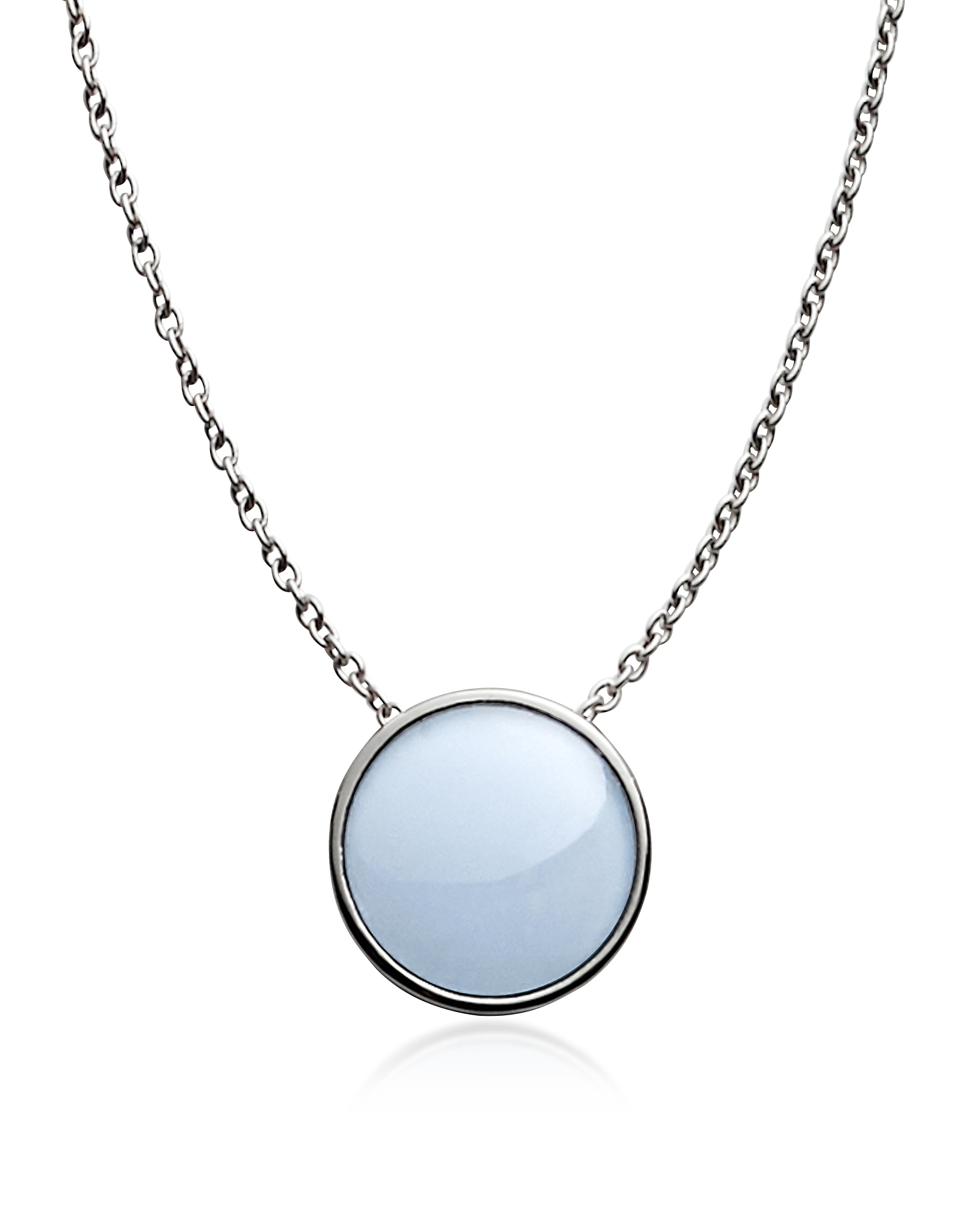 Skagen Necklaces, Sea glass Silver Tone Pendant Necklace