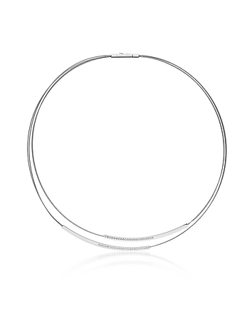 Elin Silver Tone Wire Necklace