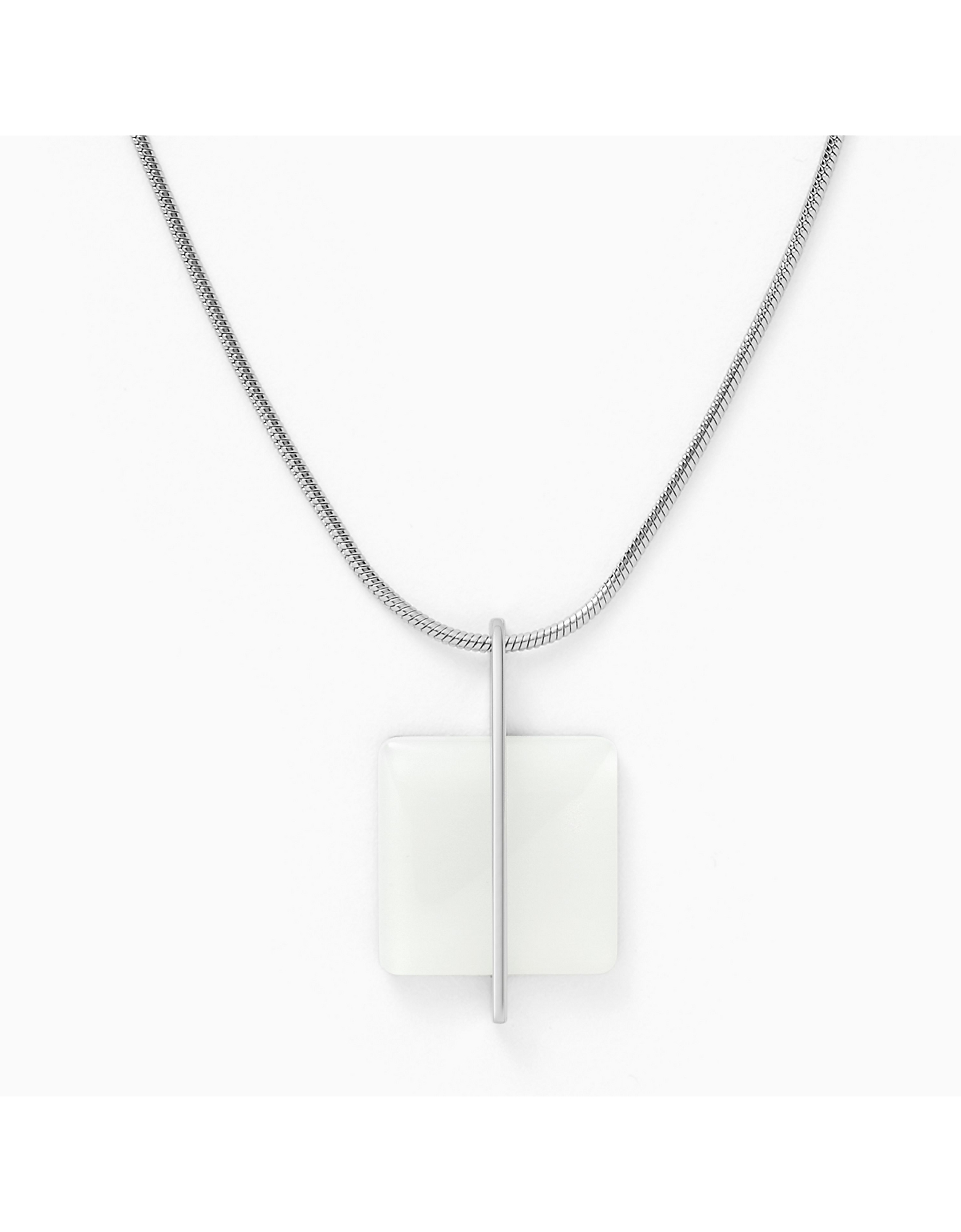 Skagen Designer Necklaces, Sea Glass Stainless Steel Women's Necklace