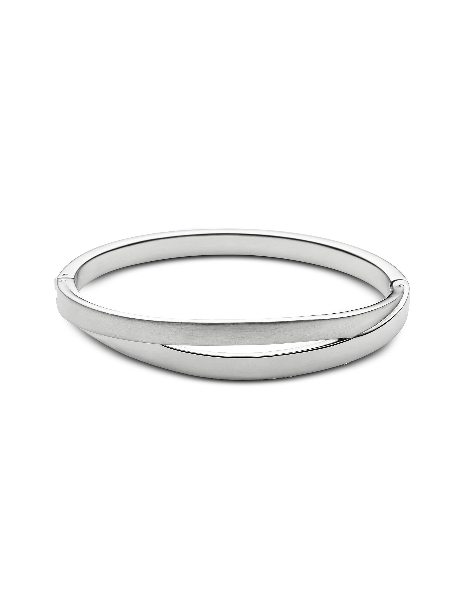 Skagen Bracelets, Elin Silver Tone Bangle Bracelet