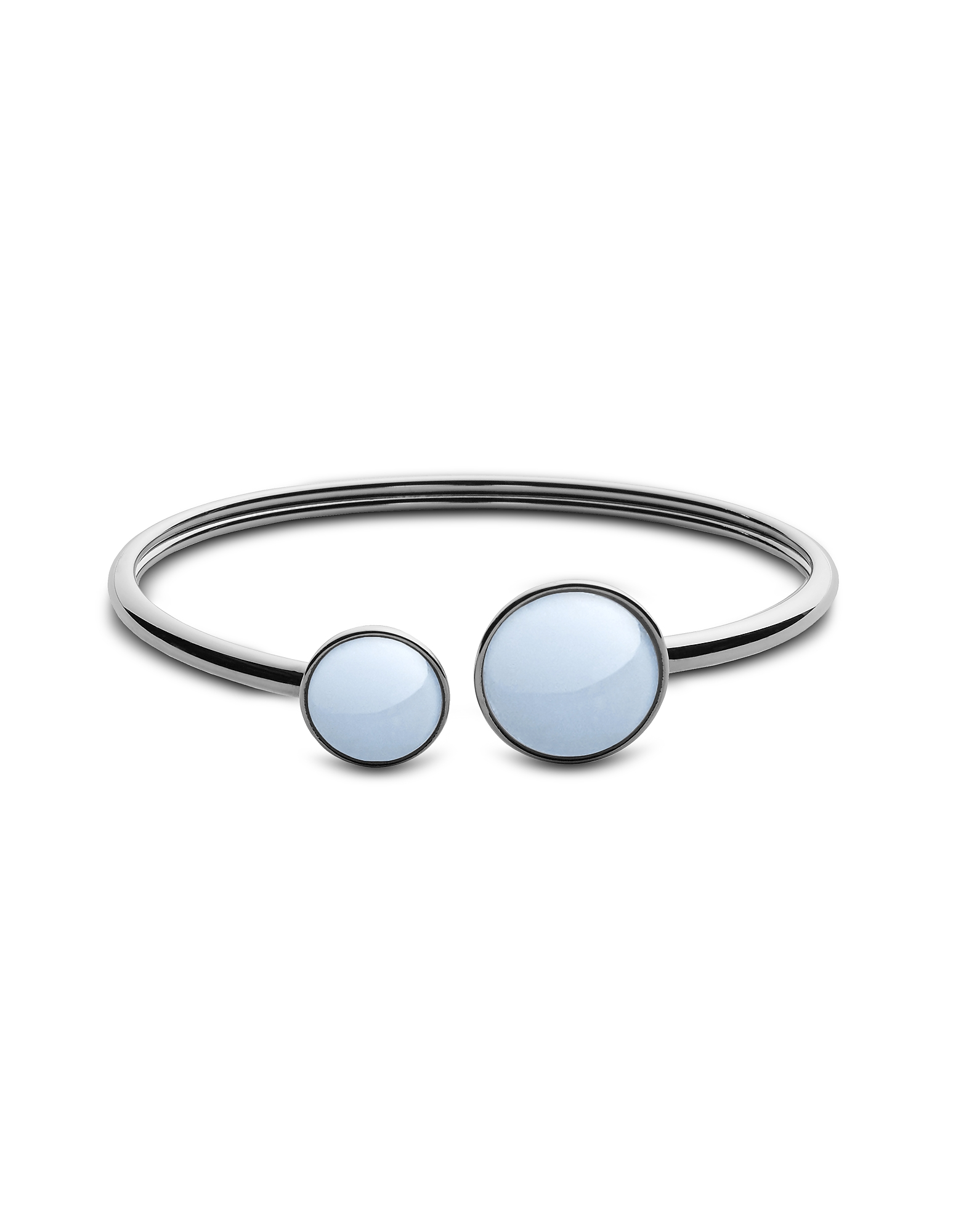 Skagen Bracelets, White Sea Glass Silver Tone Women's Bracelet