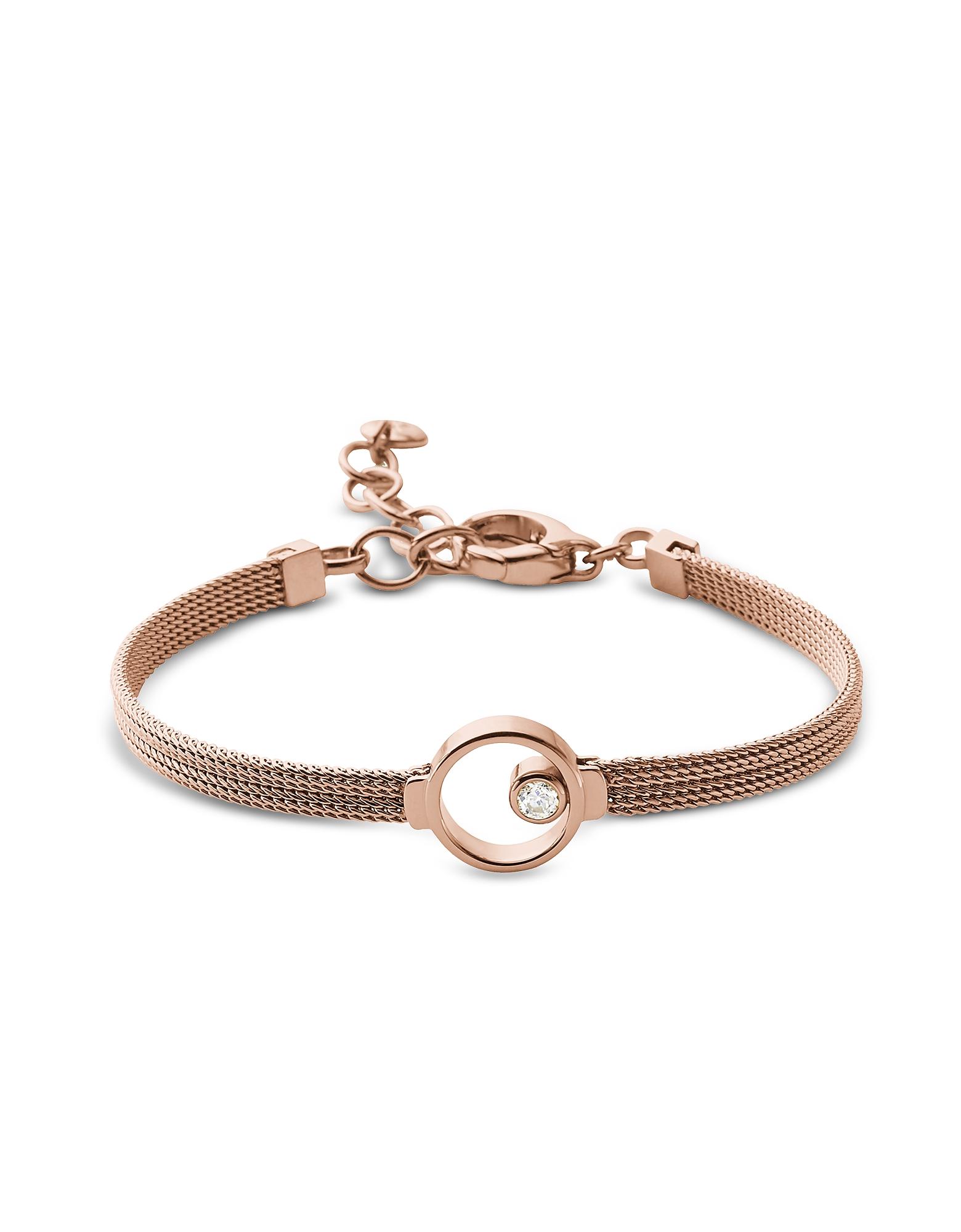 Elin Rose Gold Tone Crystal Women's Bracelet