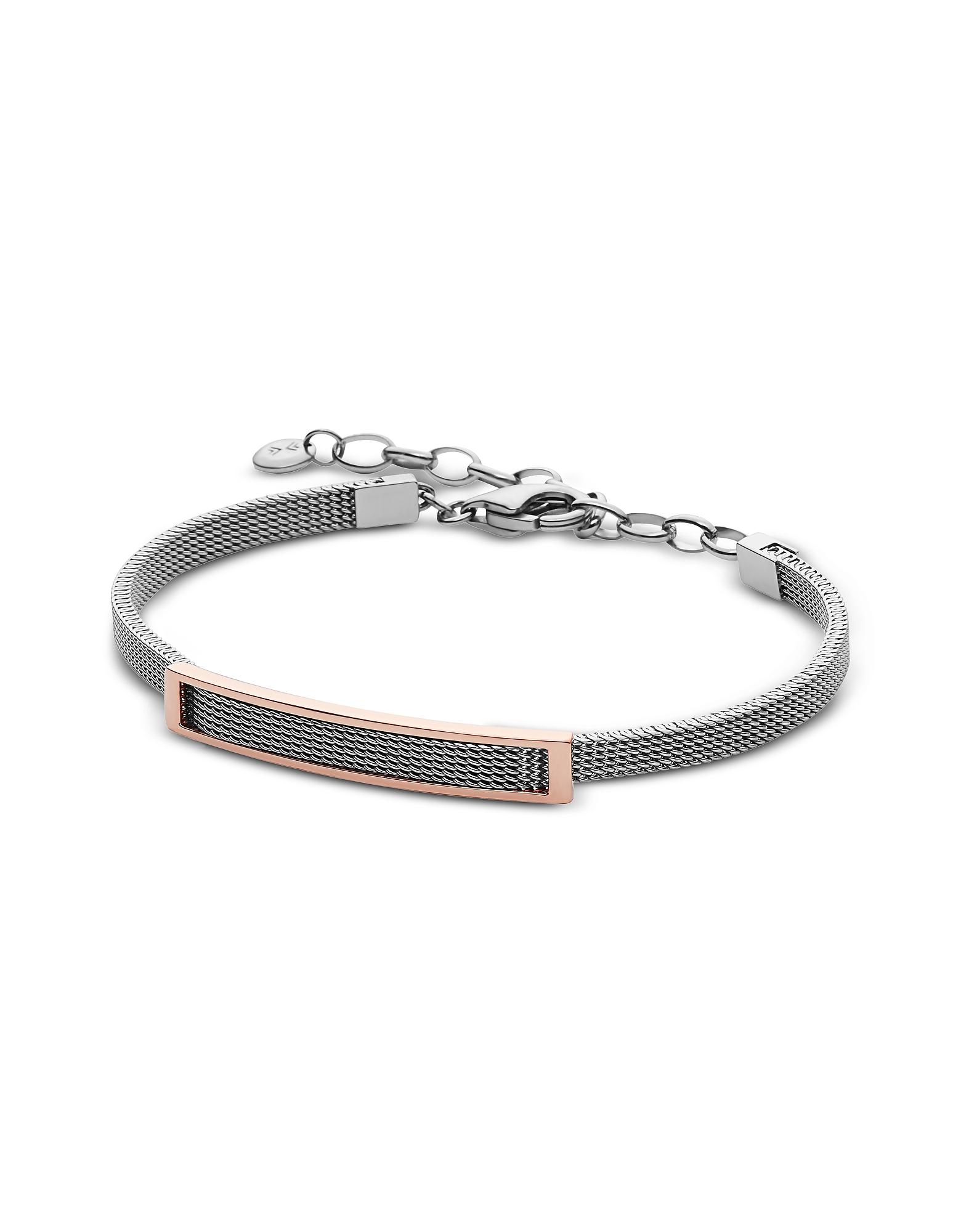 Skagen Bracelets, Merete Two-Tone Mesh Women's Bracelet
