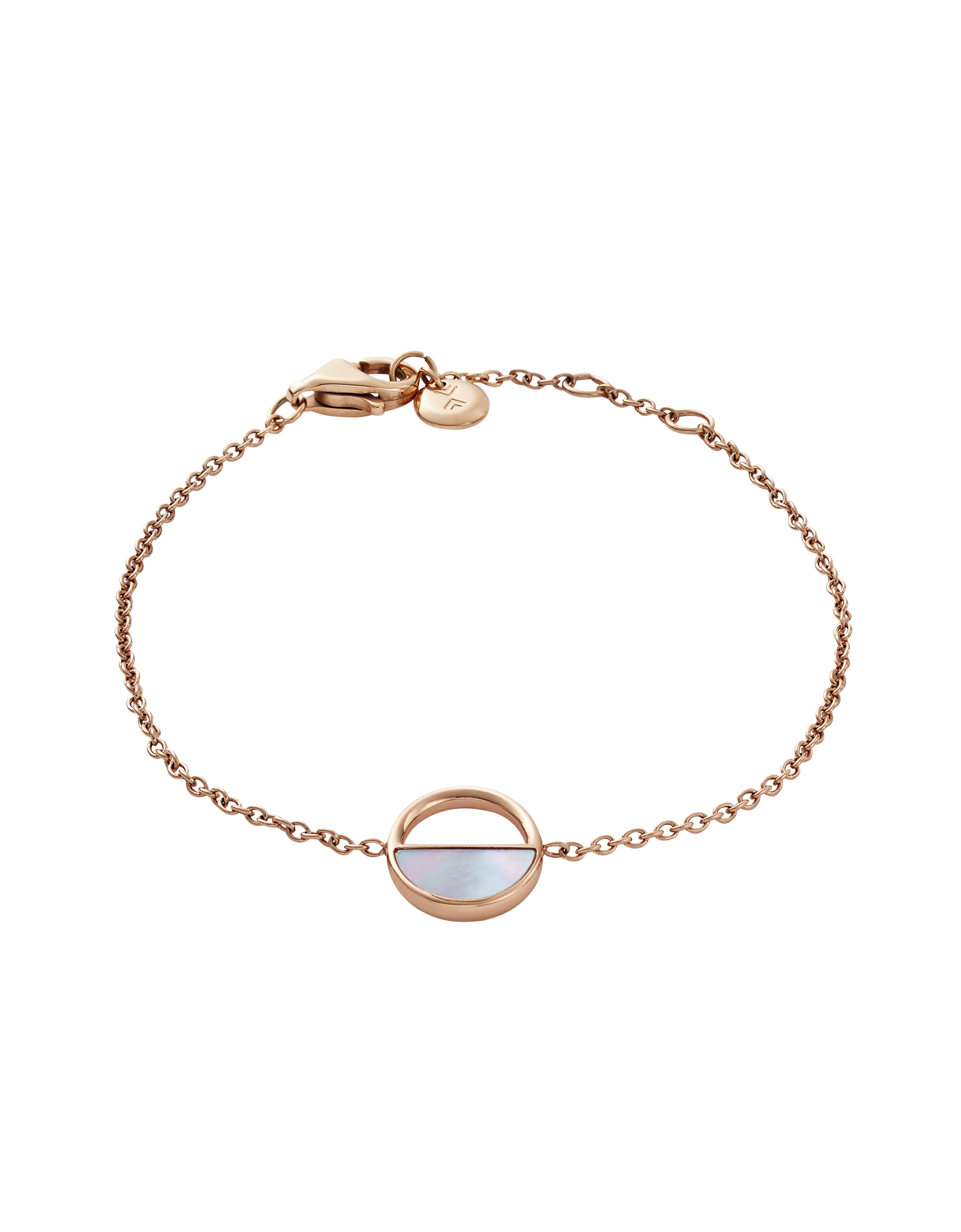 Image of Agnethe Rose Tone and Mother of Pearl Bracelet