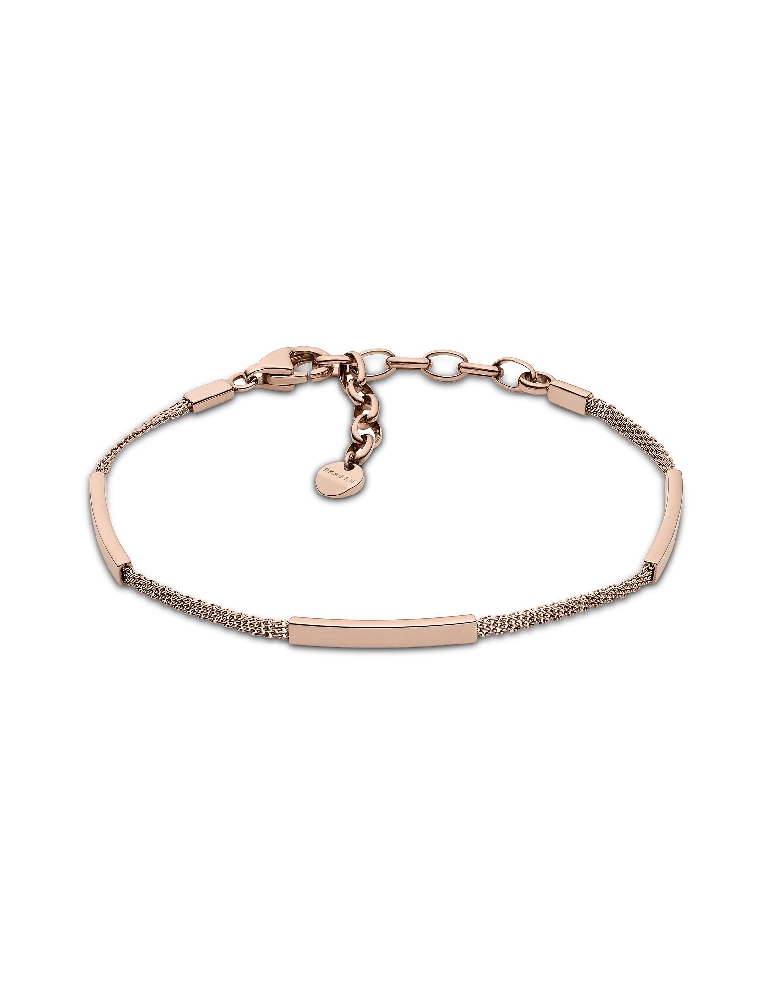 Merete Rose Gold Tone Mesh Bracelet