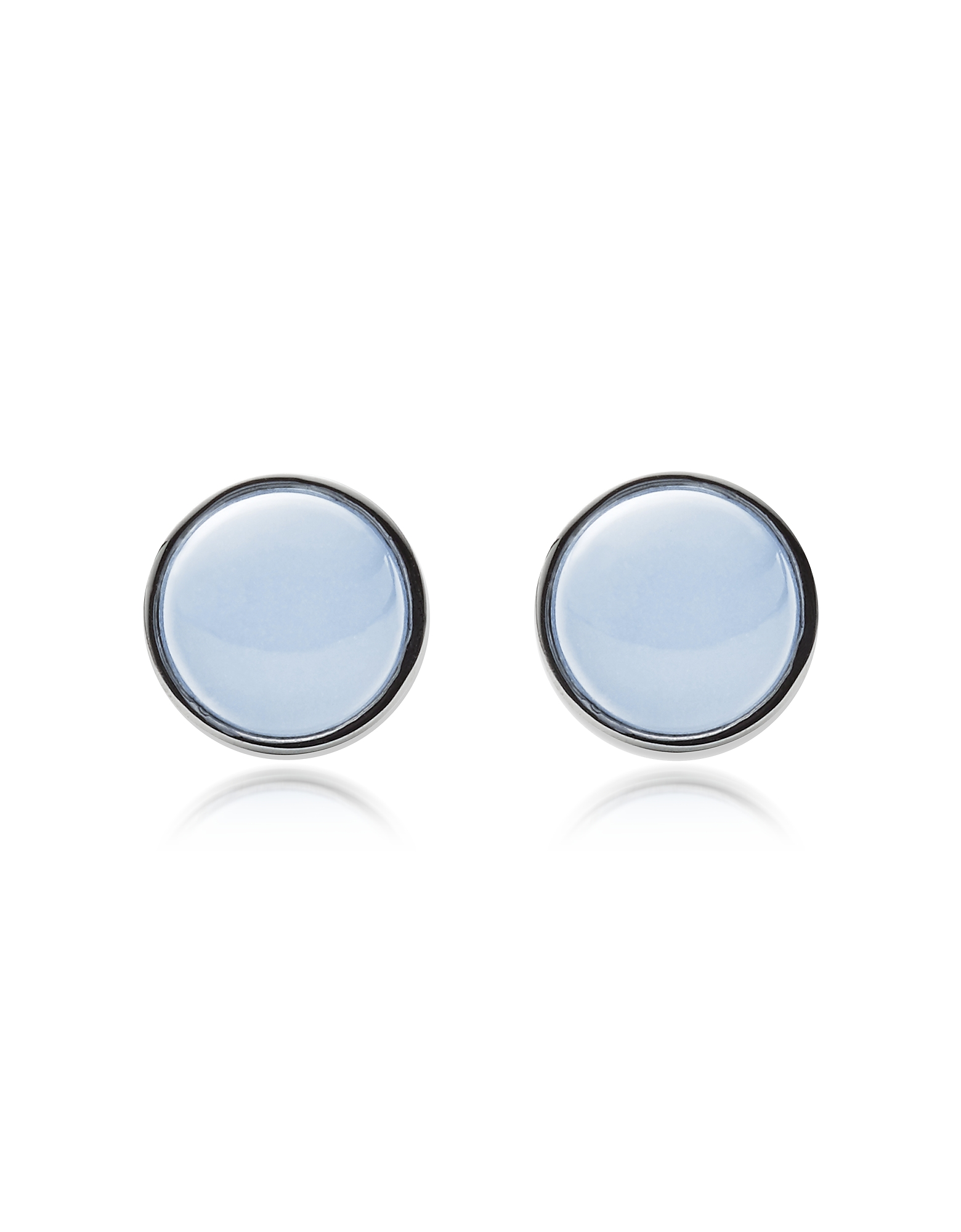 Skagen Earrings, Sea Glass and Stainless Steel Women's Round Earrings