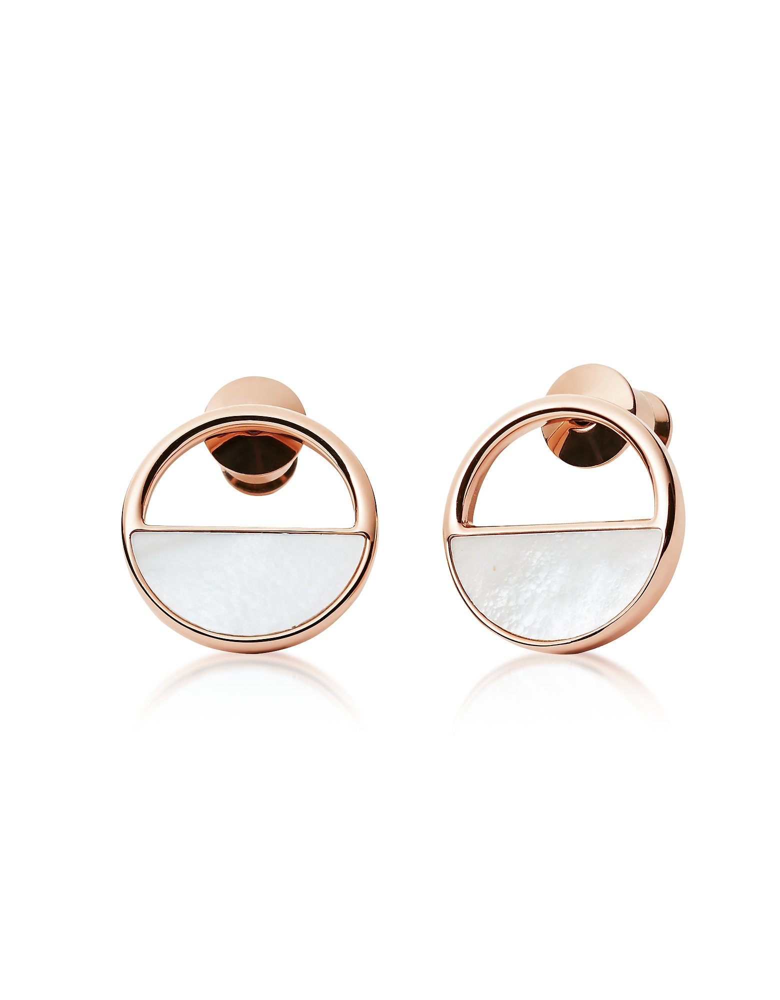 Skagen Earrings, Elin Rose Gold-Tone Stud Earrings