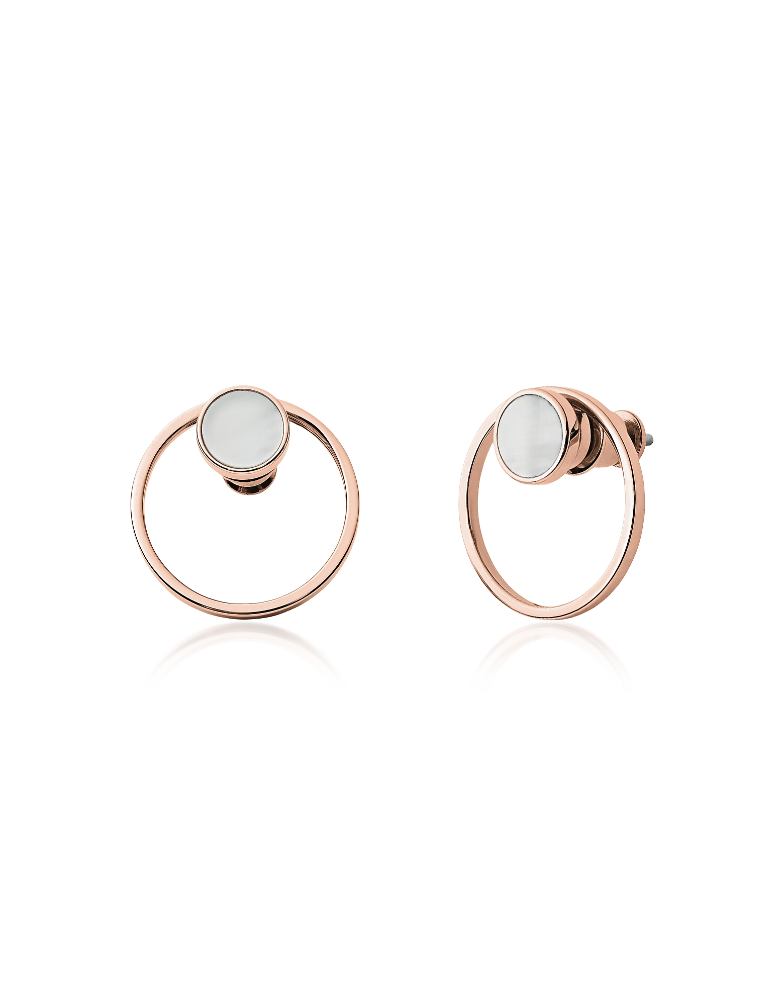 Agnethe Rose Gold-Tone Mother-of-Pearl Earrings