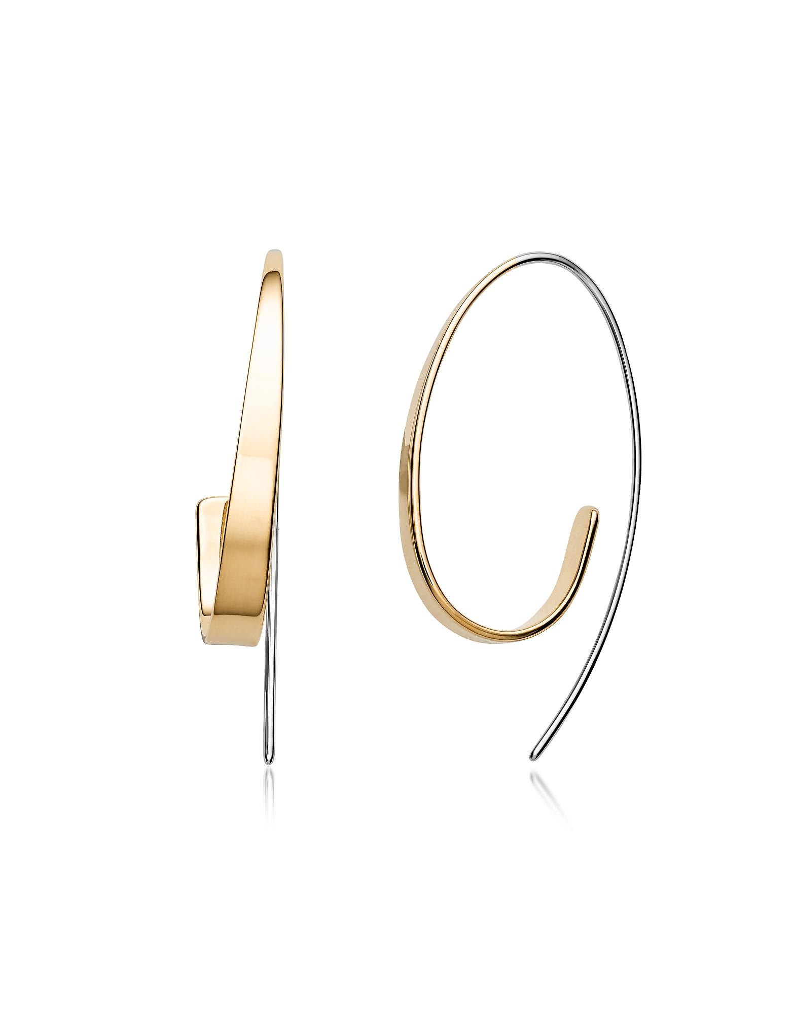 Kariana Gold Tone Curl Earrings