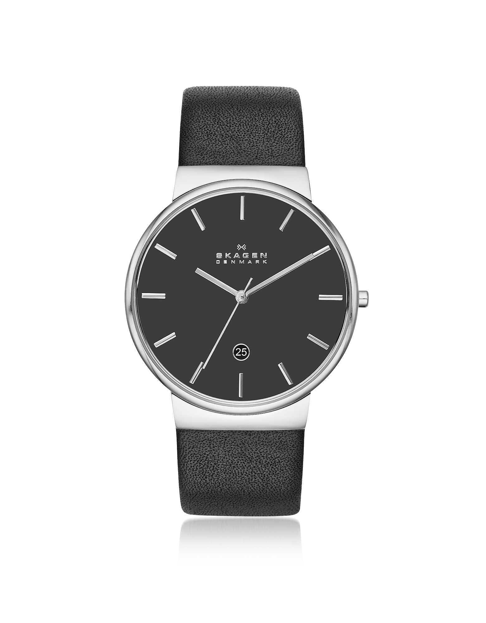 Ancher Black Leather Men's Watch
