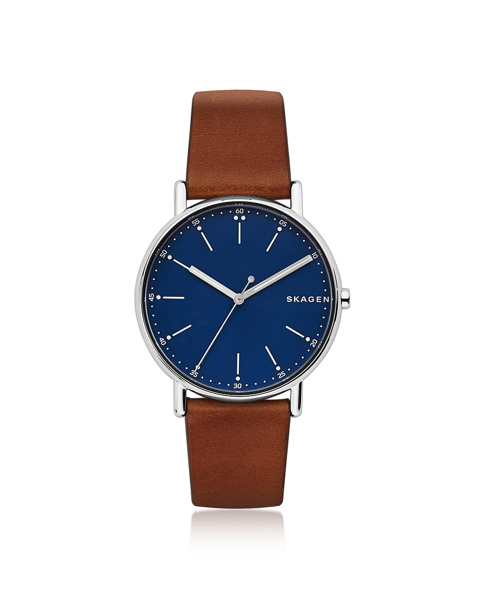 Skagen Men's Watches, Signatur Brown Leather Men's Watch