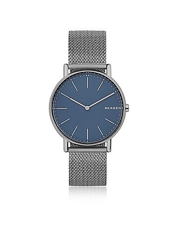 Signatur Slim Titanium and Steel-Mesh Men's Watch