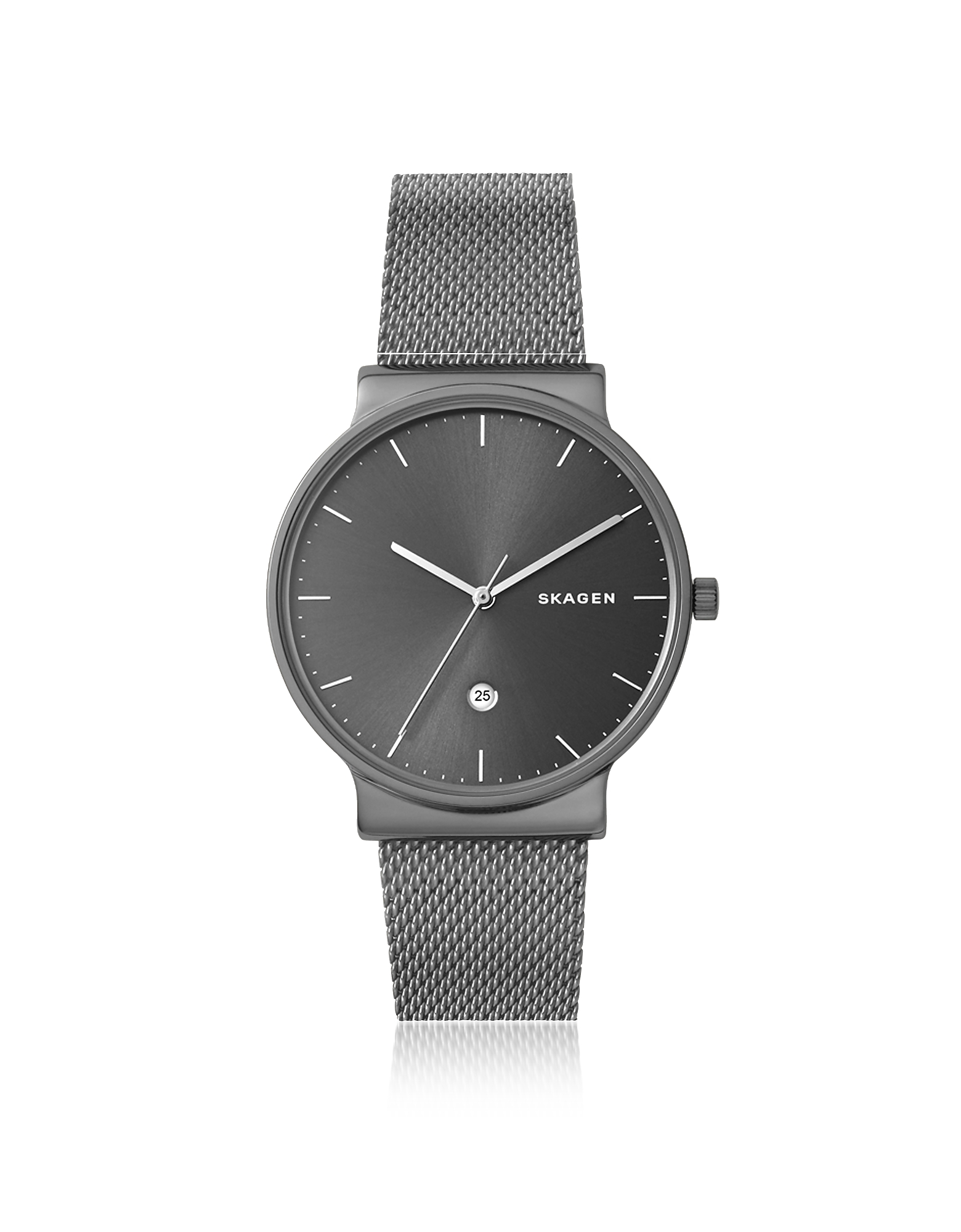Skagen Men's Watches, Ancher Titanium and Grey Sunray Dial Men's Watch