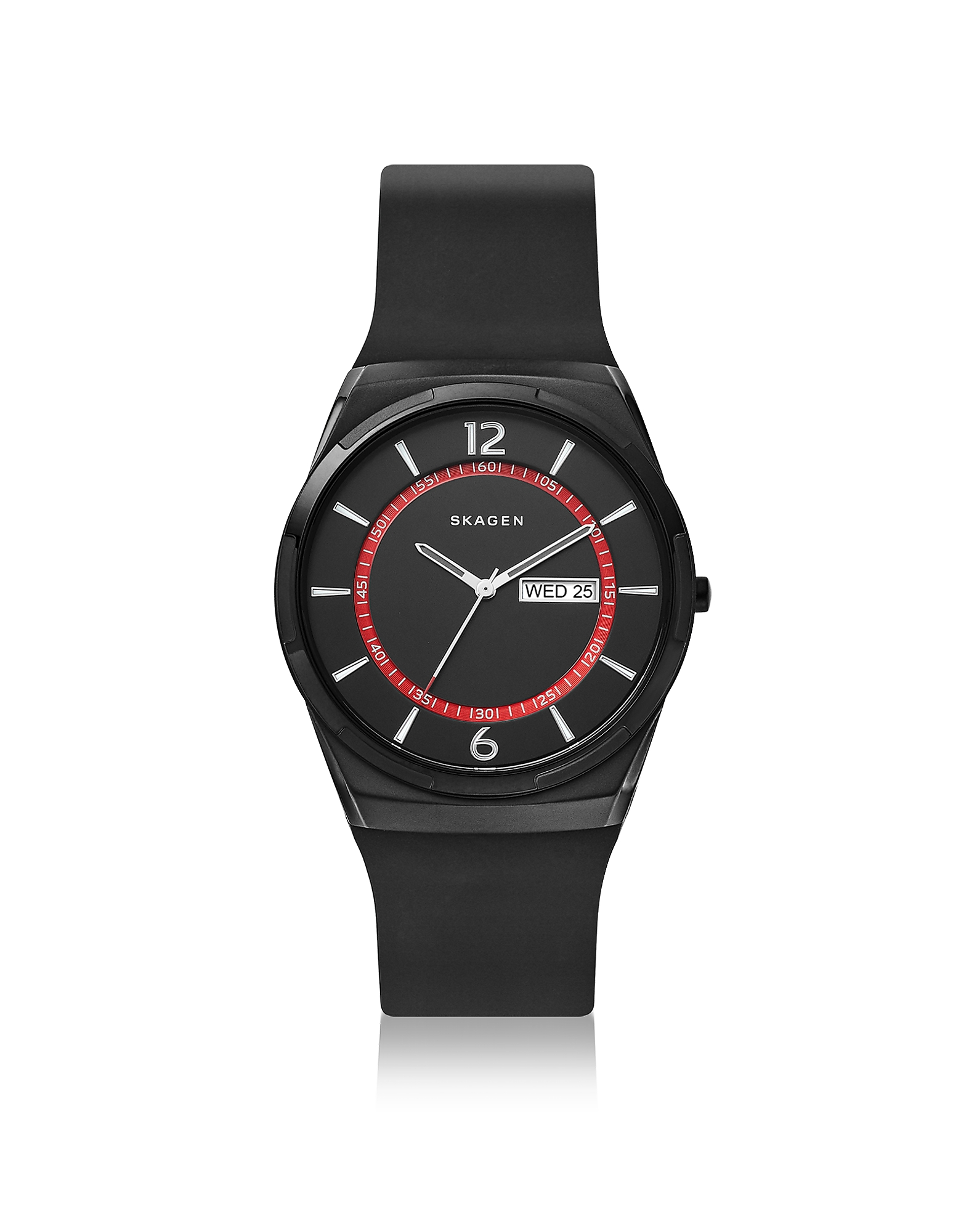 Melbye Black Silicone Multifunction Watch