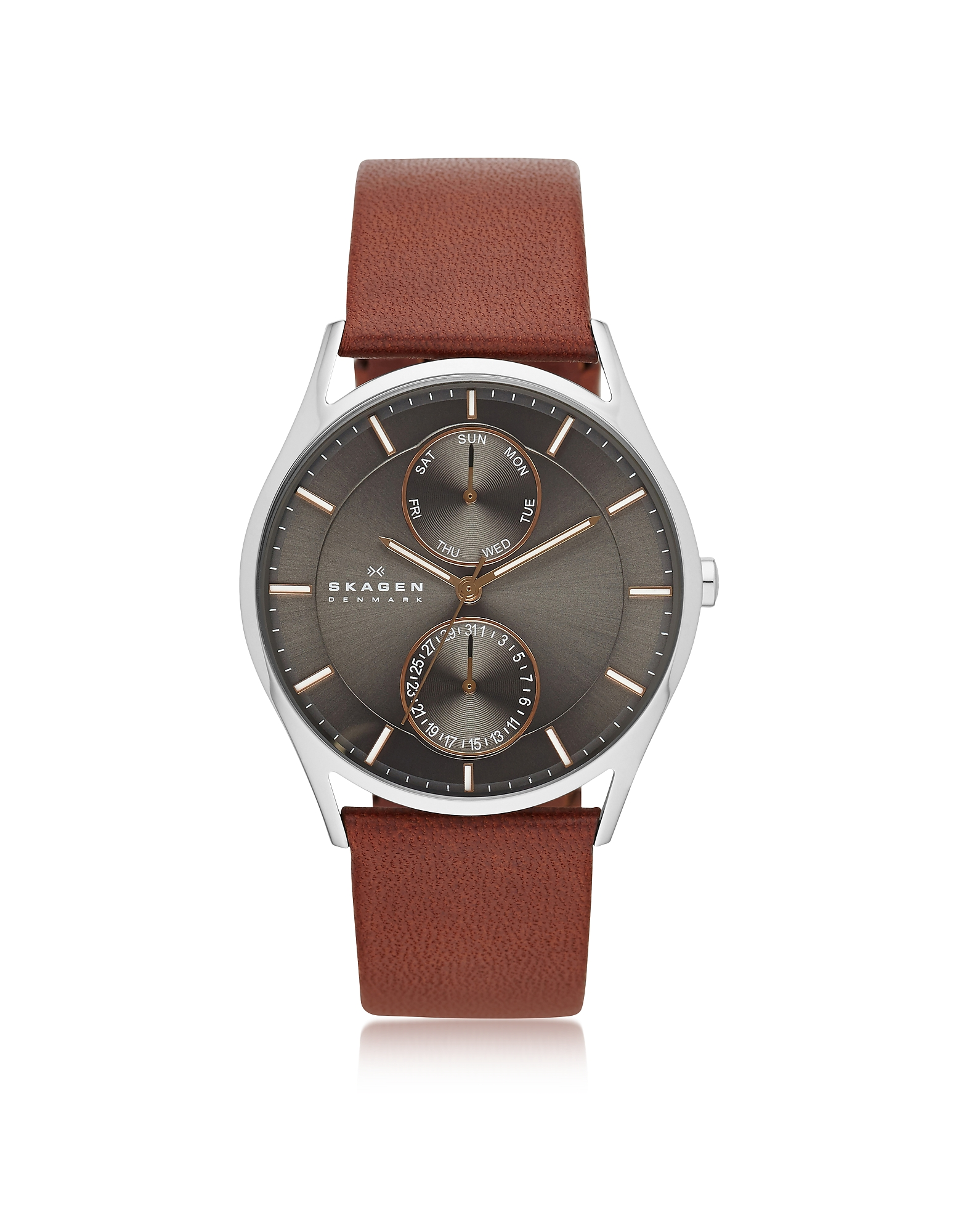 Skagen Men's Watches, Holst Multifunction Leather Men's Watch