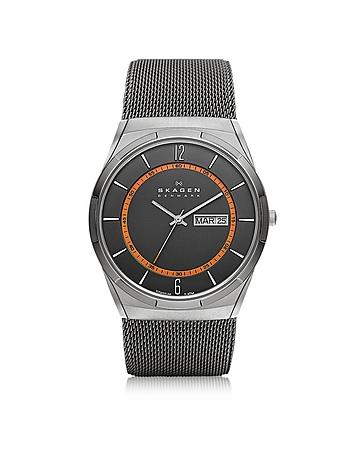 Skagen - Melbye Gray & Orange Titanium Men's Watch
