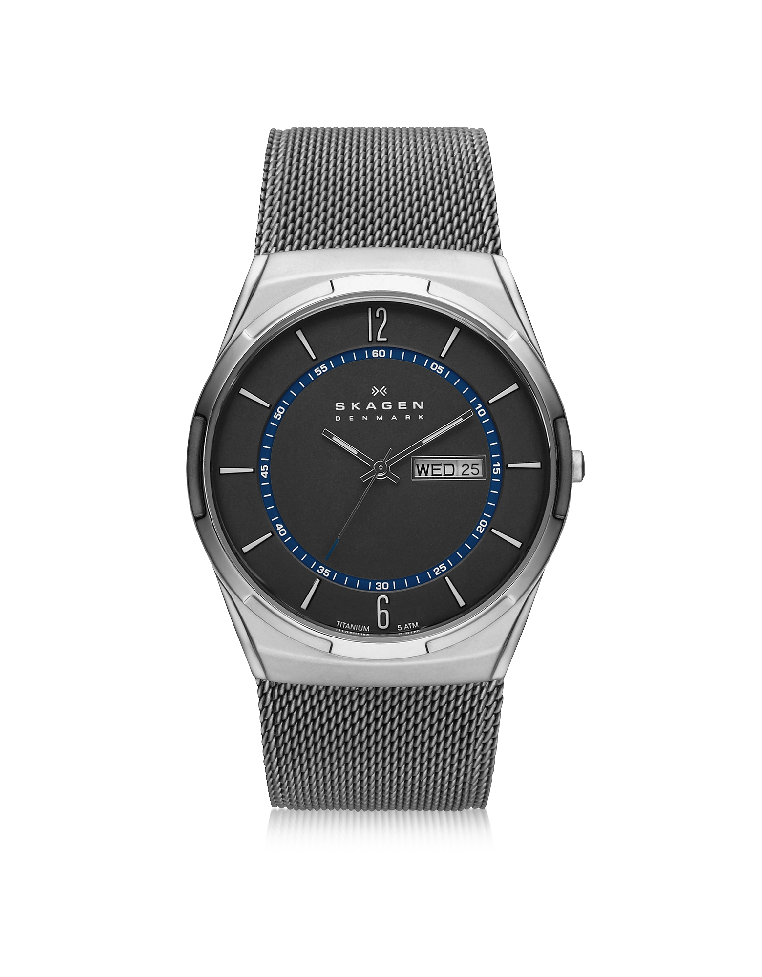 Skagen Men's Watches, Melbye Gray & Blue Titanium Men's Watch