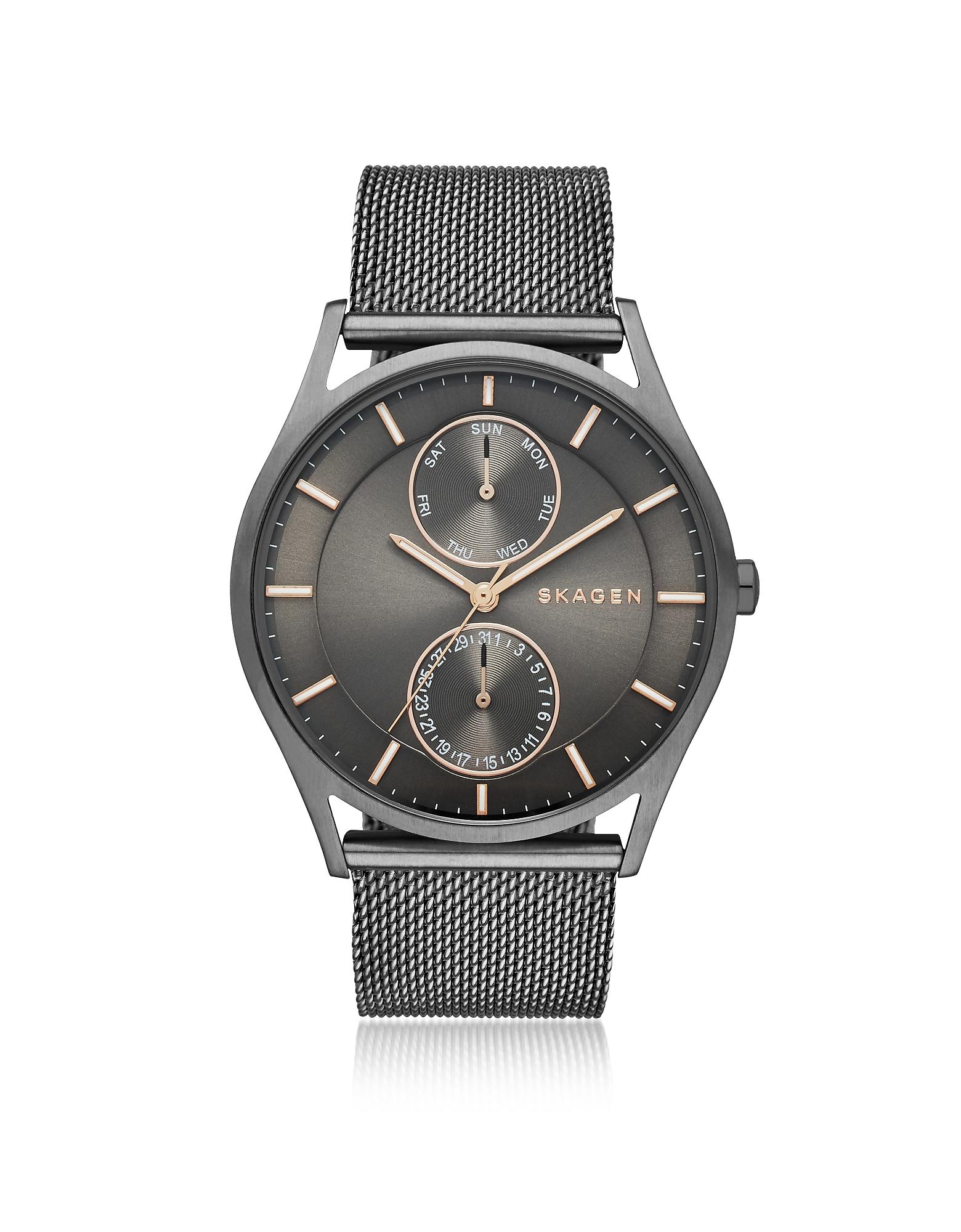 Skagen Men's Watches, Holst Gray Stainless Steel Men's Watch w/Mesh Band