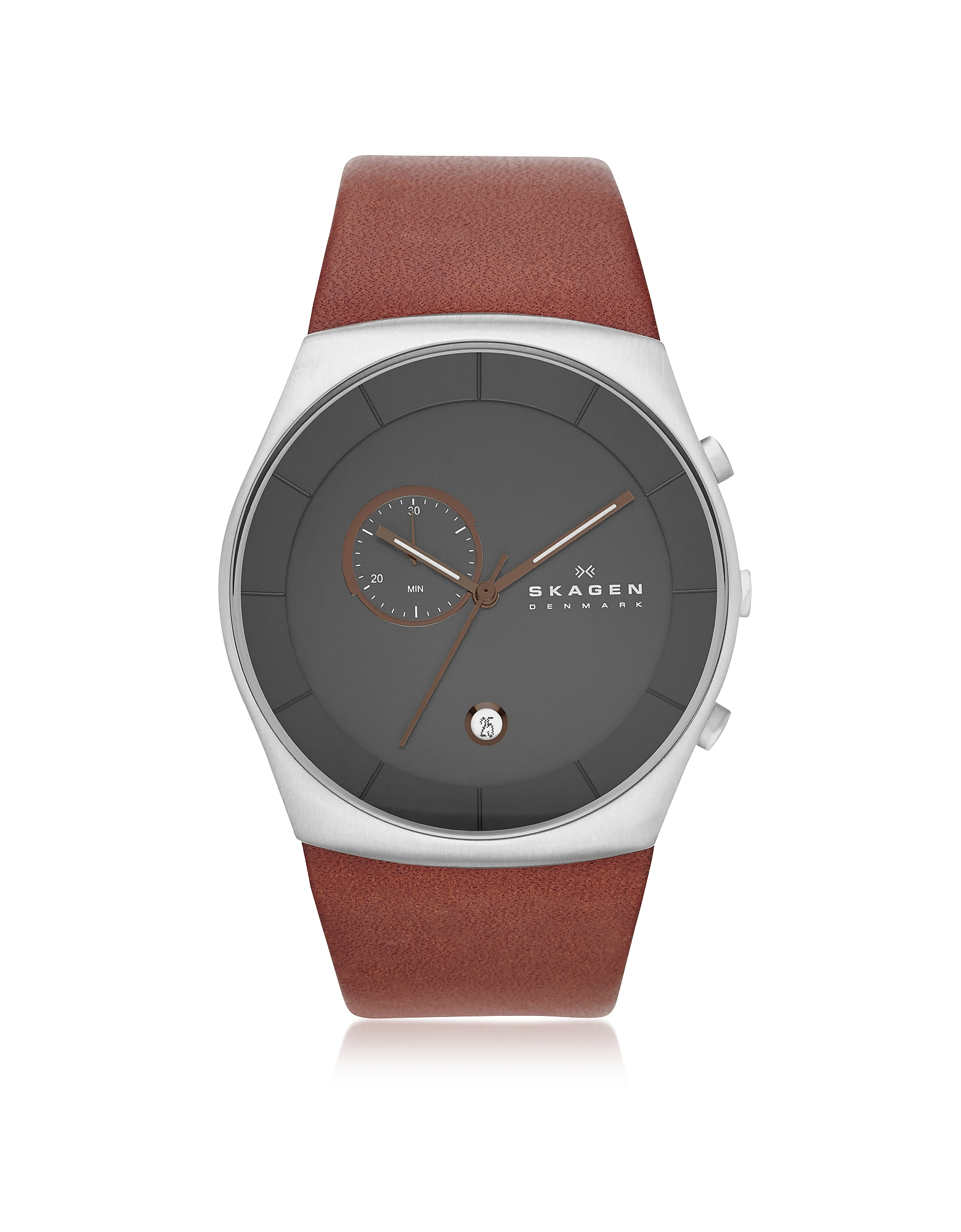Image of Skagen Designer Men's Watches, Havene Chronograph Leather Men's Watch