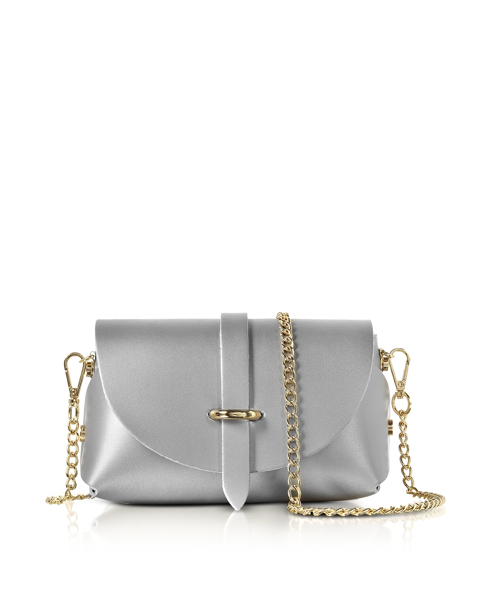 Gisèle 39 Designer Handbags, Caviar Metallic Leather Mini Shoulder Bag