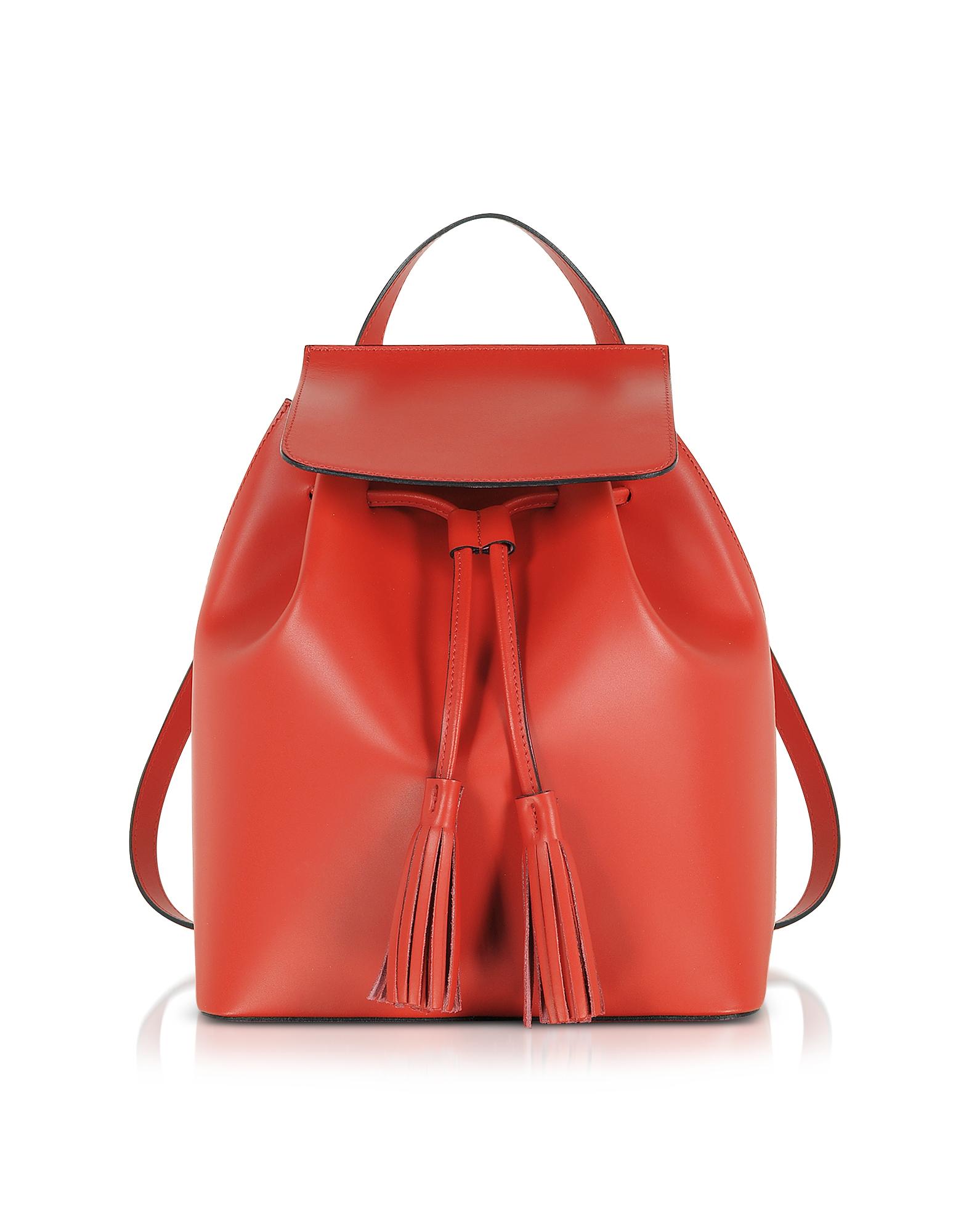 GISÈLE 39   Gisèle 39 Designer Handbags, Genuine Leather Backpack W/Tassels   Goxip