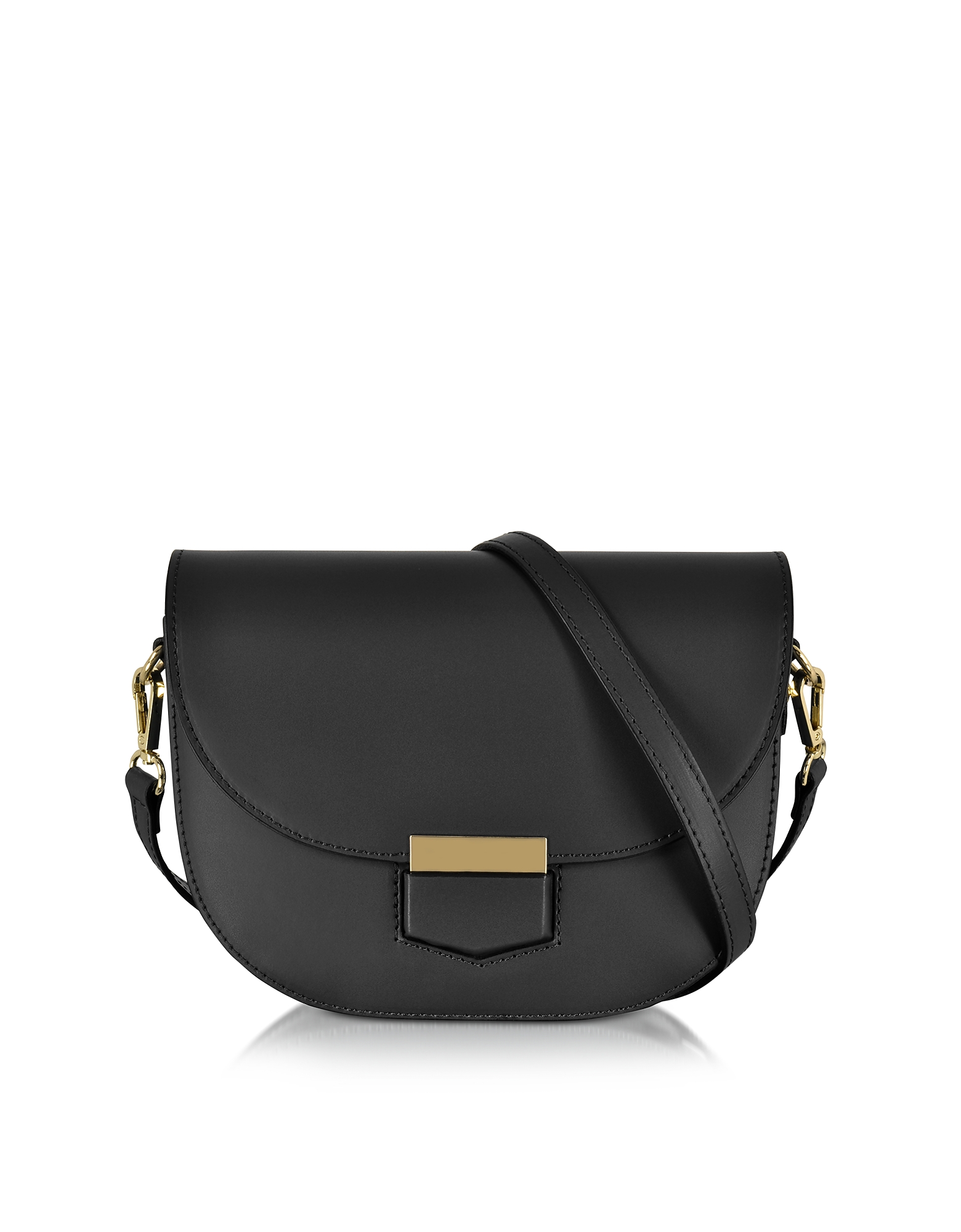 Clio Smooth Leather Flap Shoulder Bag