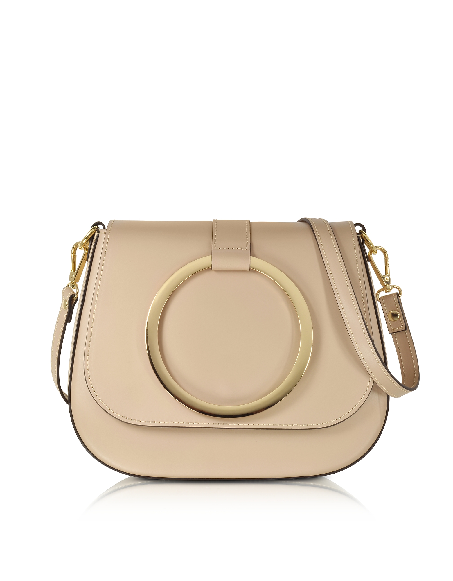 Gisèle 39 Designer Handbags, Smooth Leather Shoulder Bag