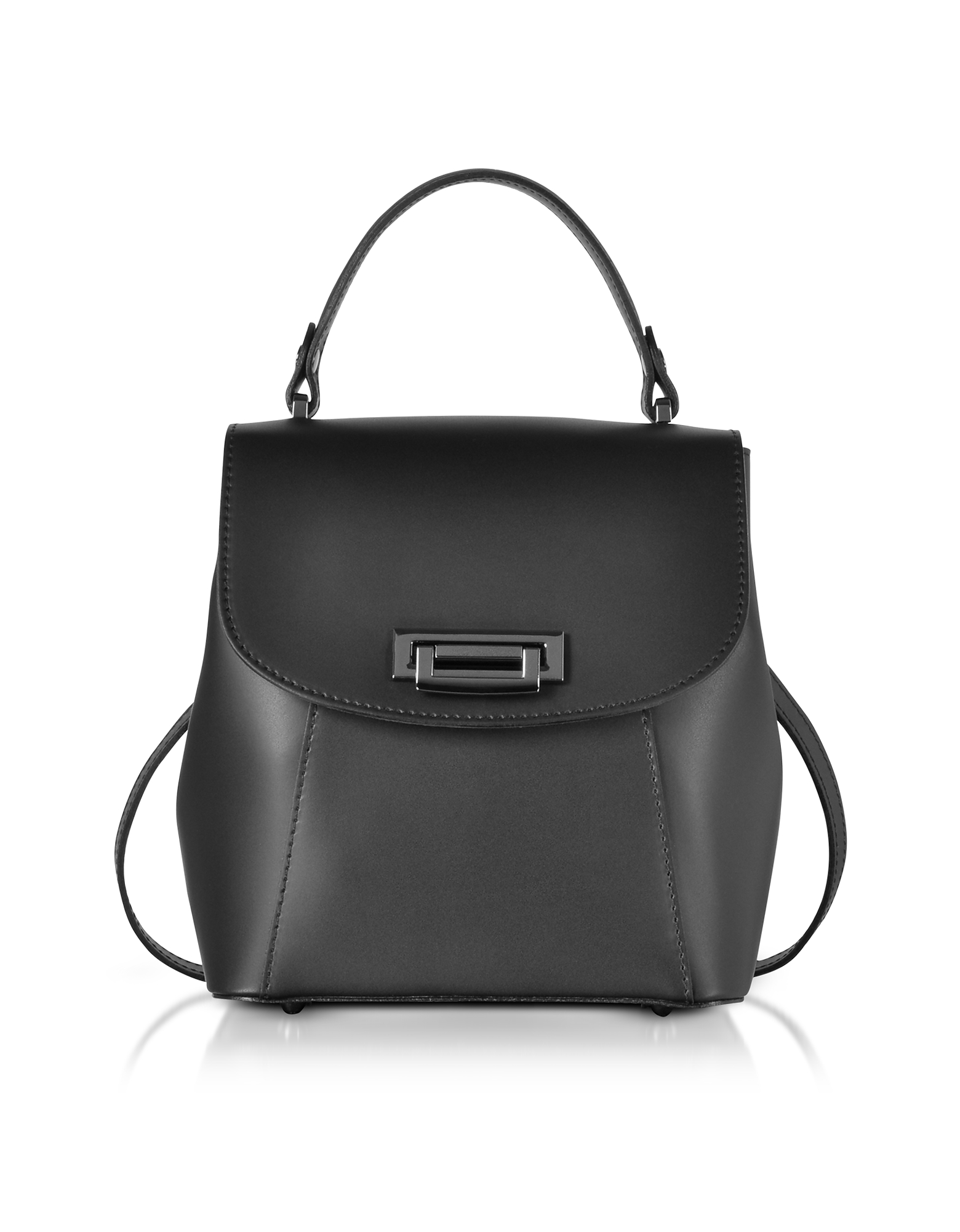 Gisèle 39 Designer Handbags, Venus Leather Convertible Satchel/Backpack