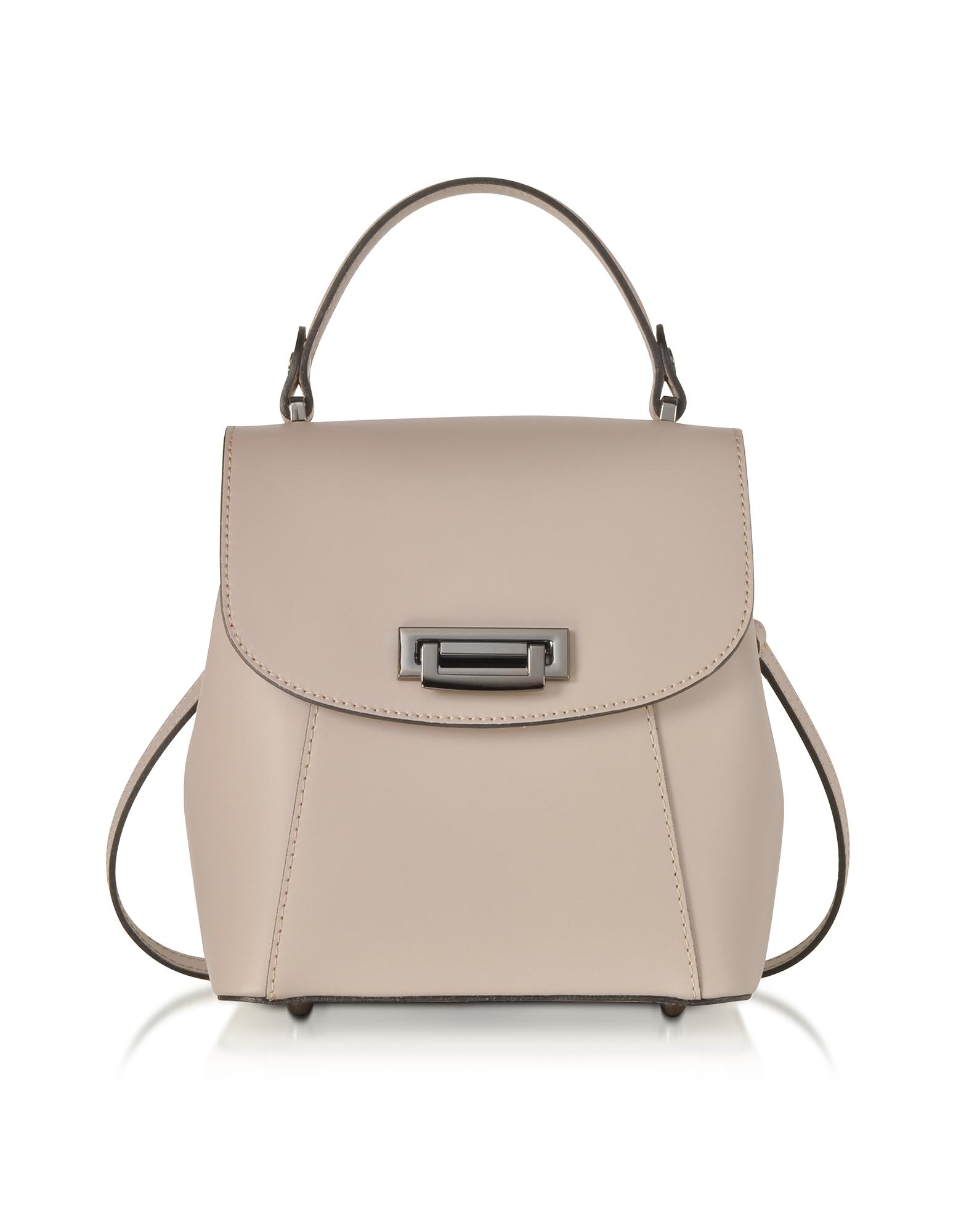 GISÈLE 39   Gisèle 39 Designer Handbags, Venus Leather Convertible Satchel/Backpack   Goxip