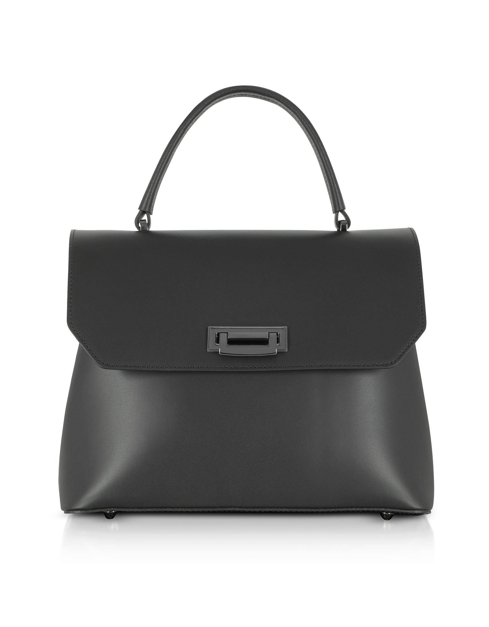 Lutèce Cuir Moyen Top Handle Satchel Bag