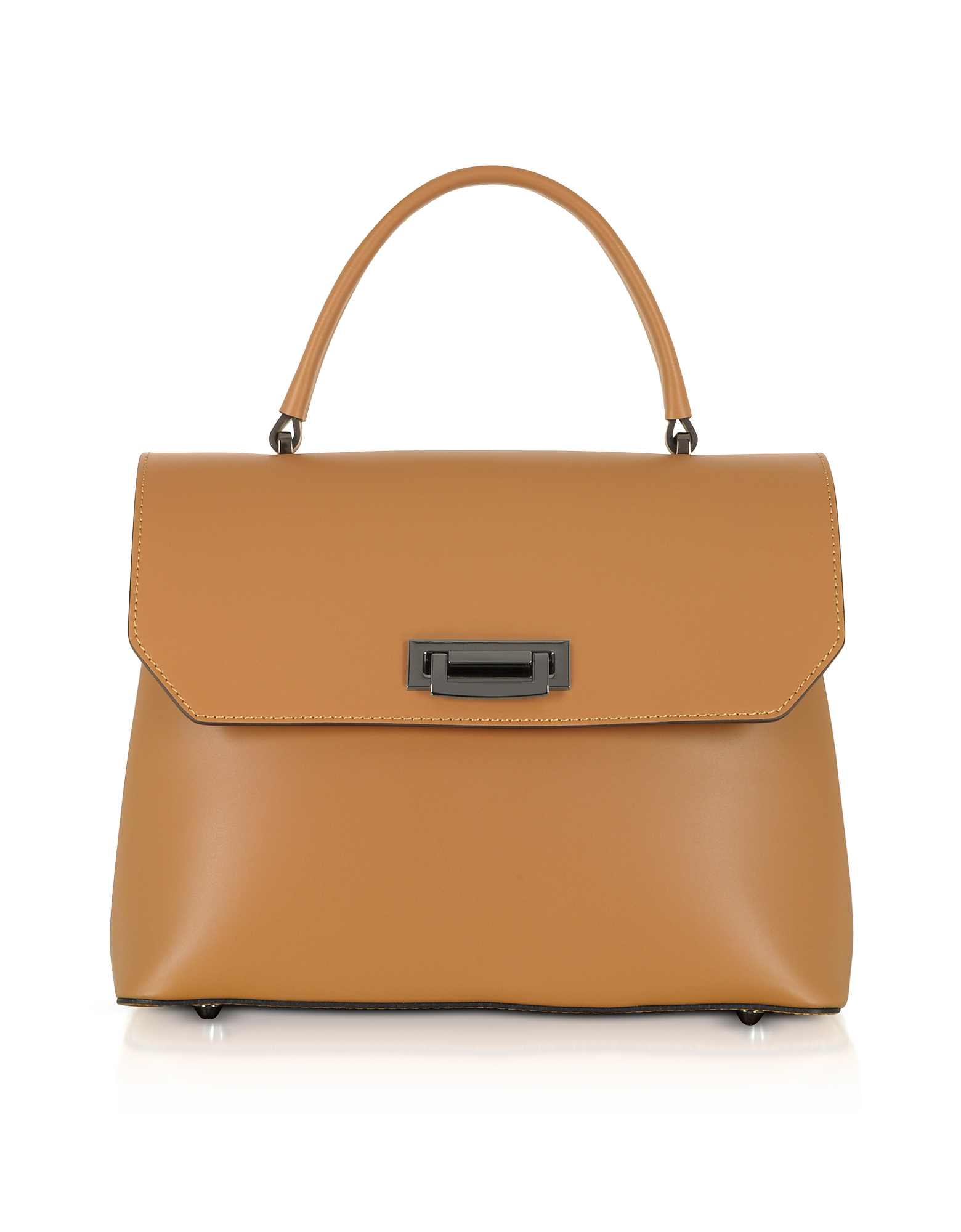 GISÈLE 39 | Gisèle 39 Designer Handbags, Lutece Medium Leather Top Handle Satchel Bag | Goxip