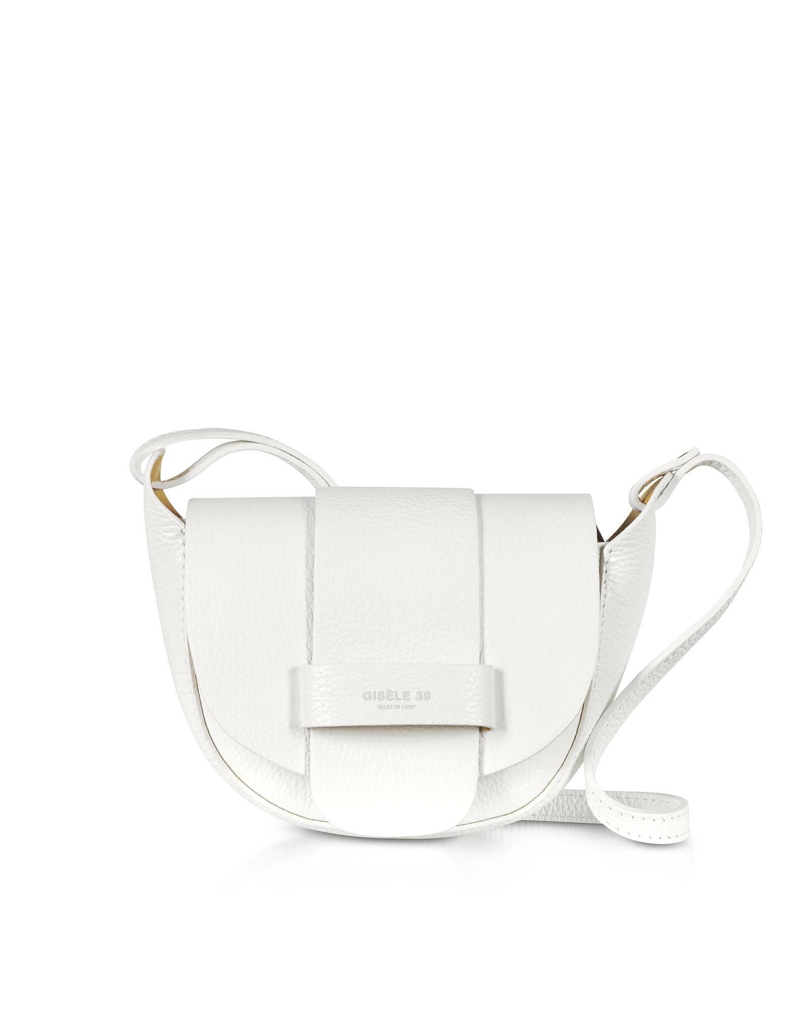 Gisèle 39 Designer Handbags, Carlotta Grainy Soft Leather Shoulder Bag