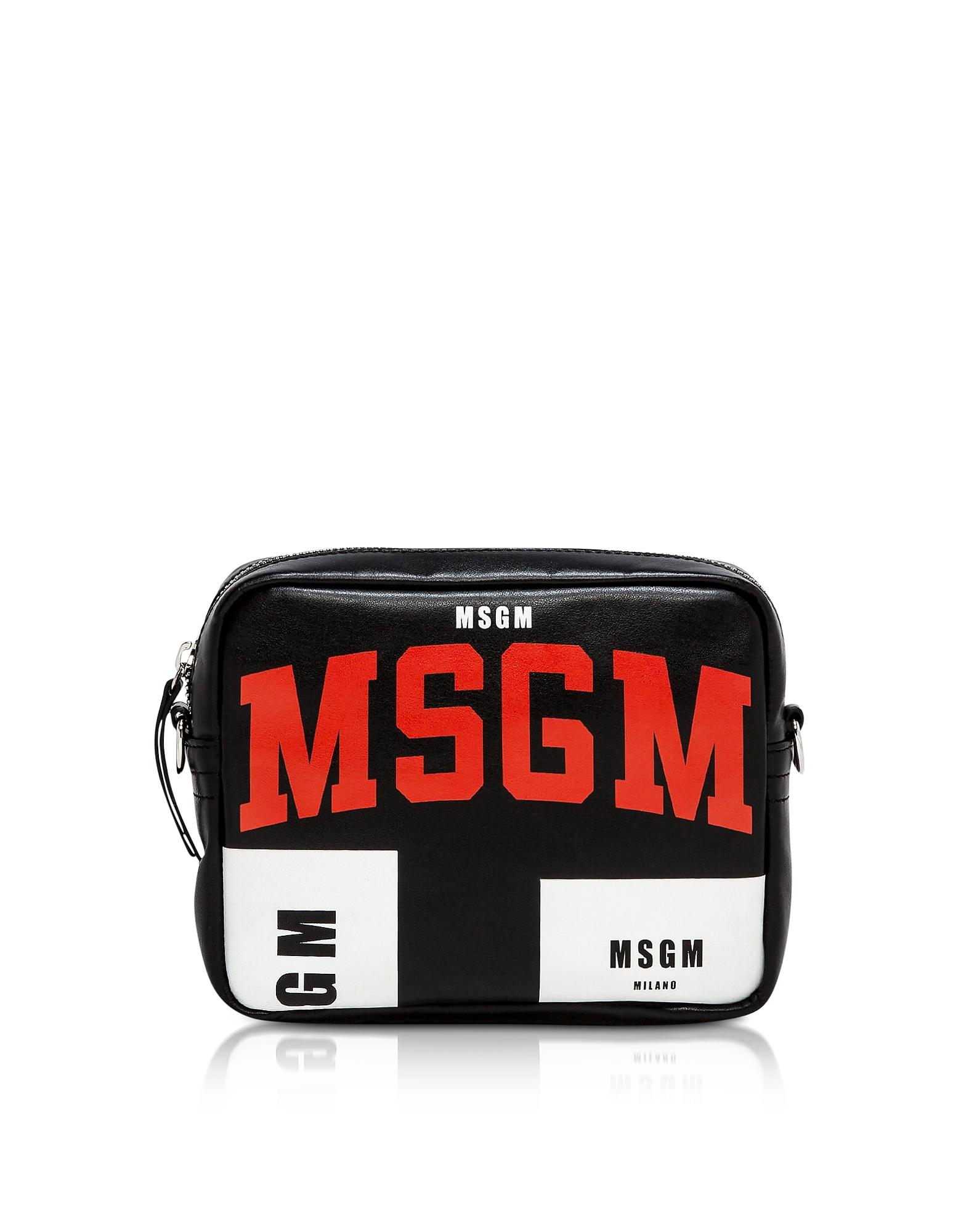 MSGM Black Crossbody Bag w/ Signature