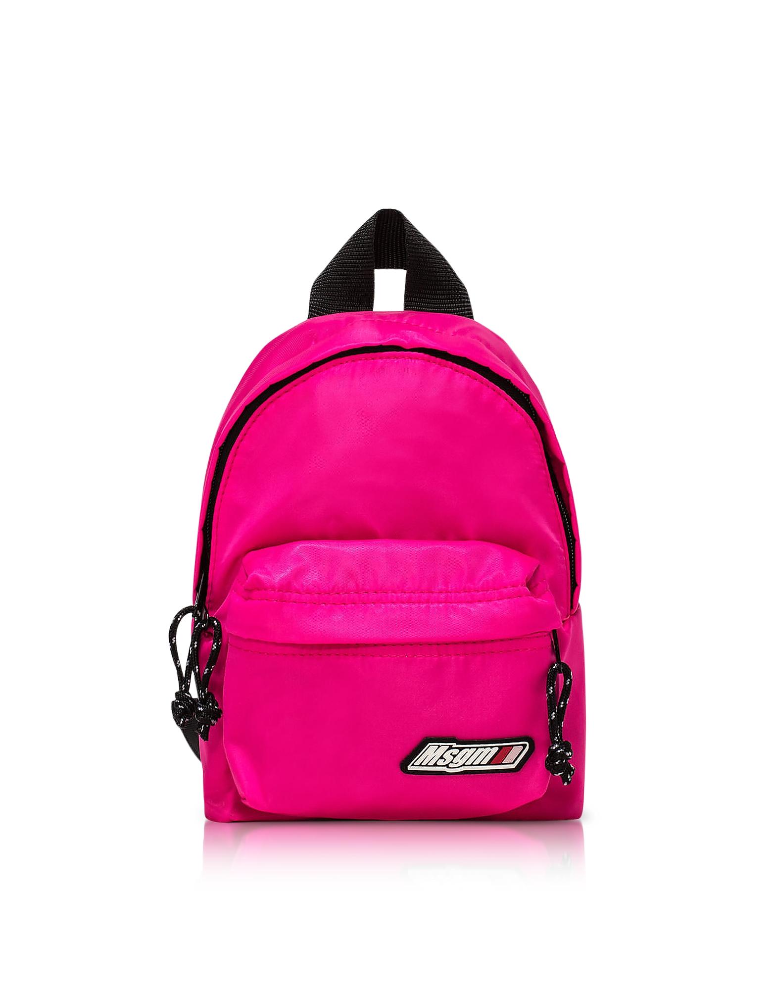 MSGM Designer Handbags, MSGM Backpack w/ Logo