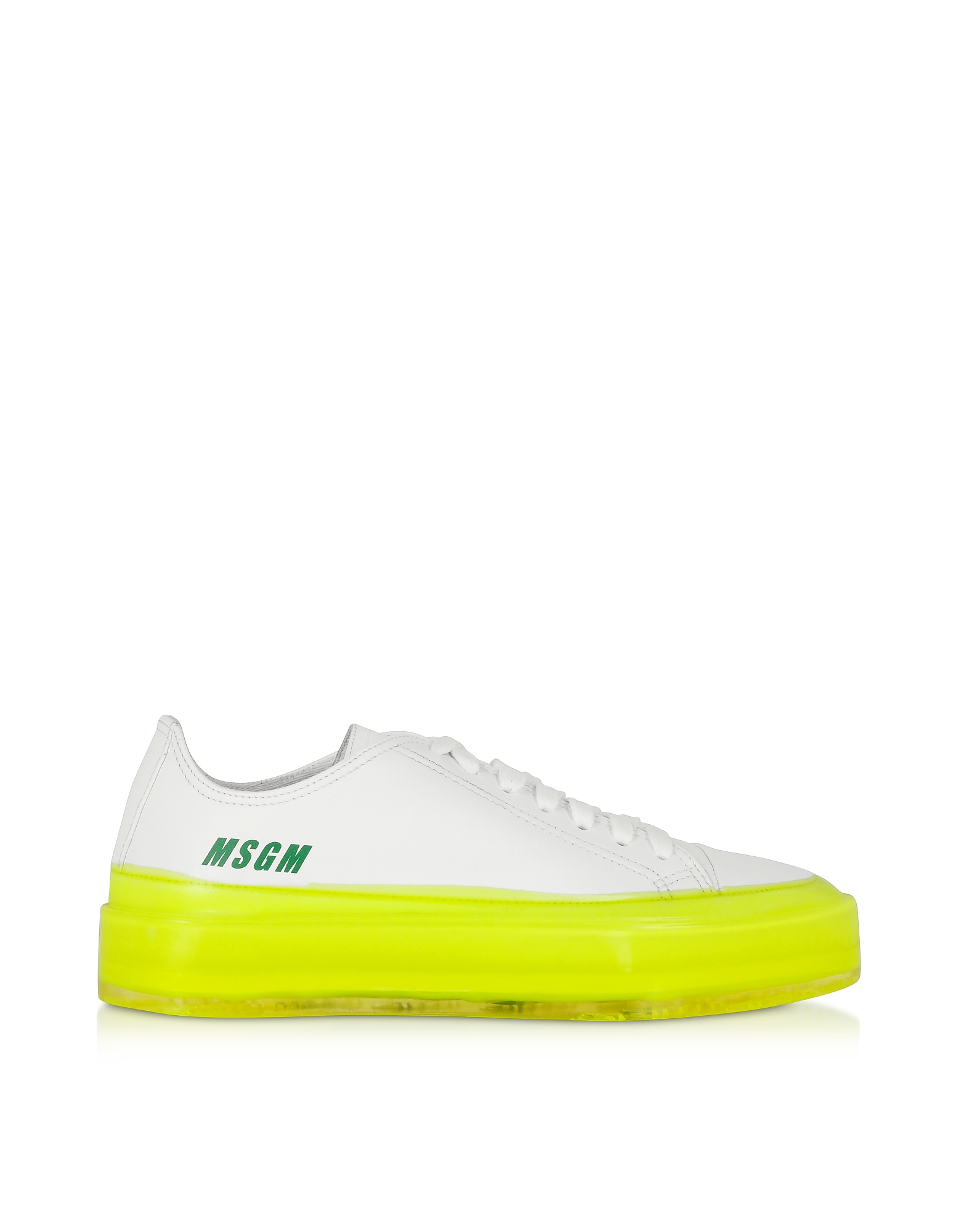 MSGM Fluo Floating Sneakers, White