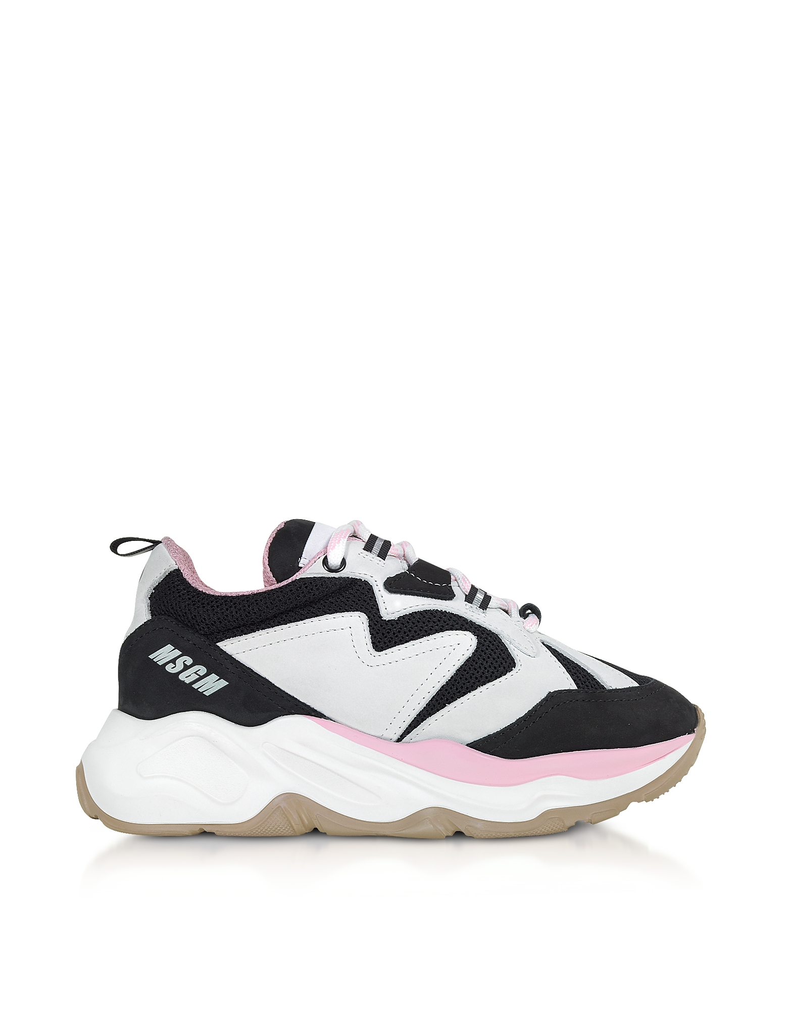 Black & Pink Attack Sneakers, Black / white