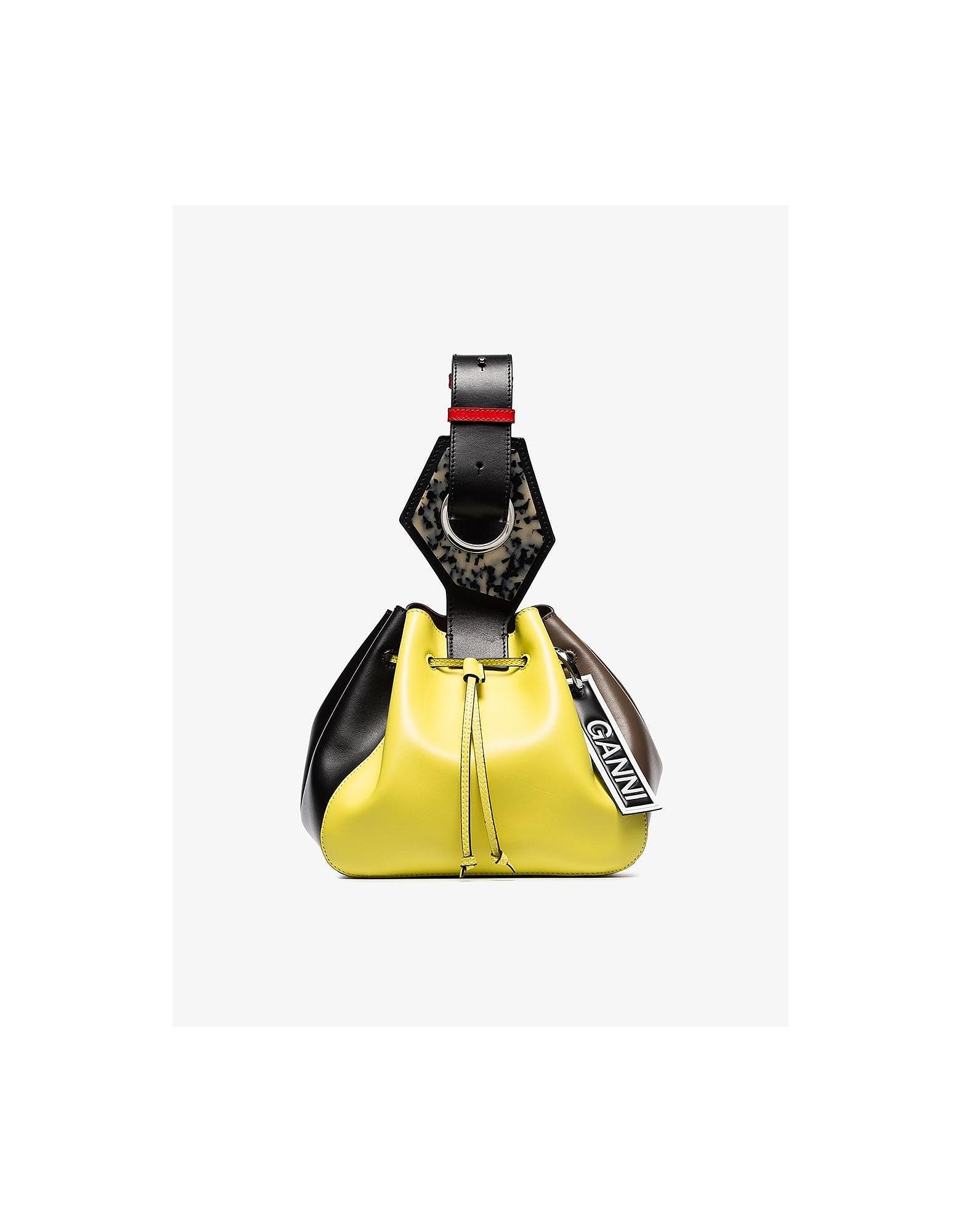 Ganni Designer Handbags, GNNI Medium Drawstring Bag