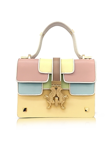 Giancarlo Petriglia - Sabrina P-Bag Color Block Leather Handle Bag