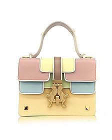 Sabrina P-Bag Color Block Leather  Handle Bag - Giancarlo Petriglia