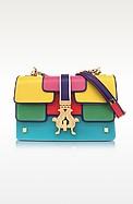 Summer P-Bag Color Block Leather Shoulder Bag - Giancarlo Petriglia