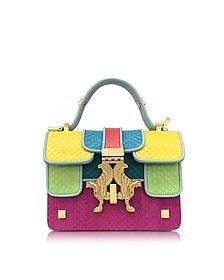 Pop Color-Block Elaphe Leather Mini P Bag - Giancarlo Petriglia