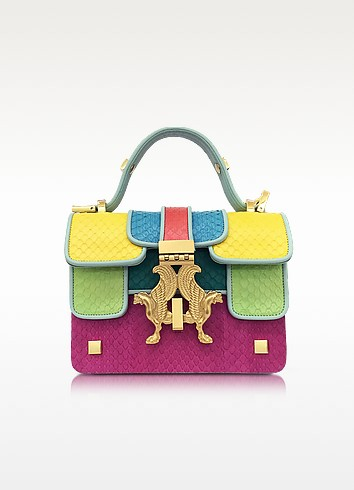 Pop Color-Block Elaphe Leather Mini P Bag - Giancarlo Petriglia