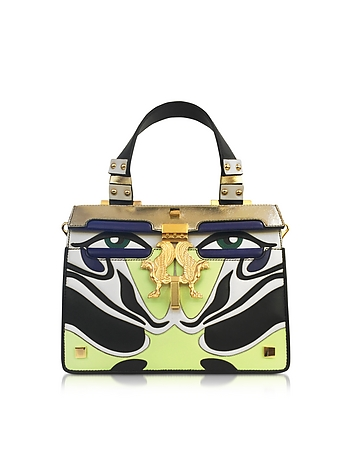 Giancarlo Petriglia - Mini Peggy Eyes Inlaid Multicolor Leather Bag
