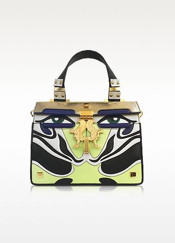 Mini Peggy Eyes Inlaid Multicolor Leather Bag - Giancarlo Petriglia