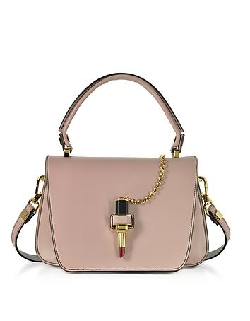 Giancarlo Petriglia - Powder Pink Leather Mini Queen Bag w/Lipstick